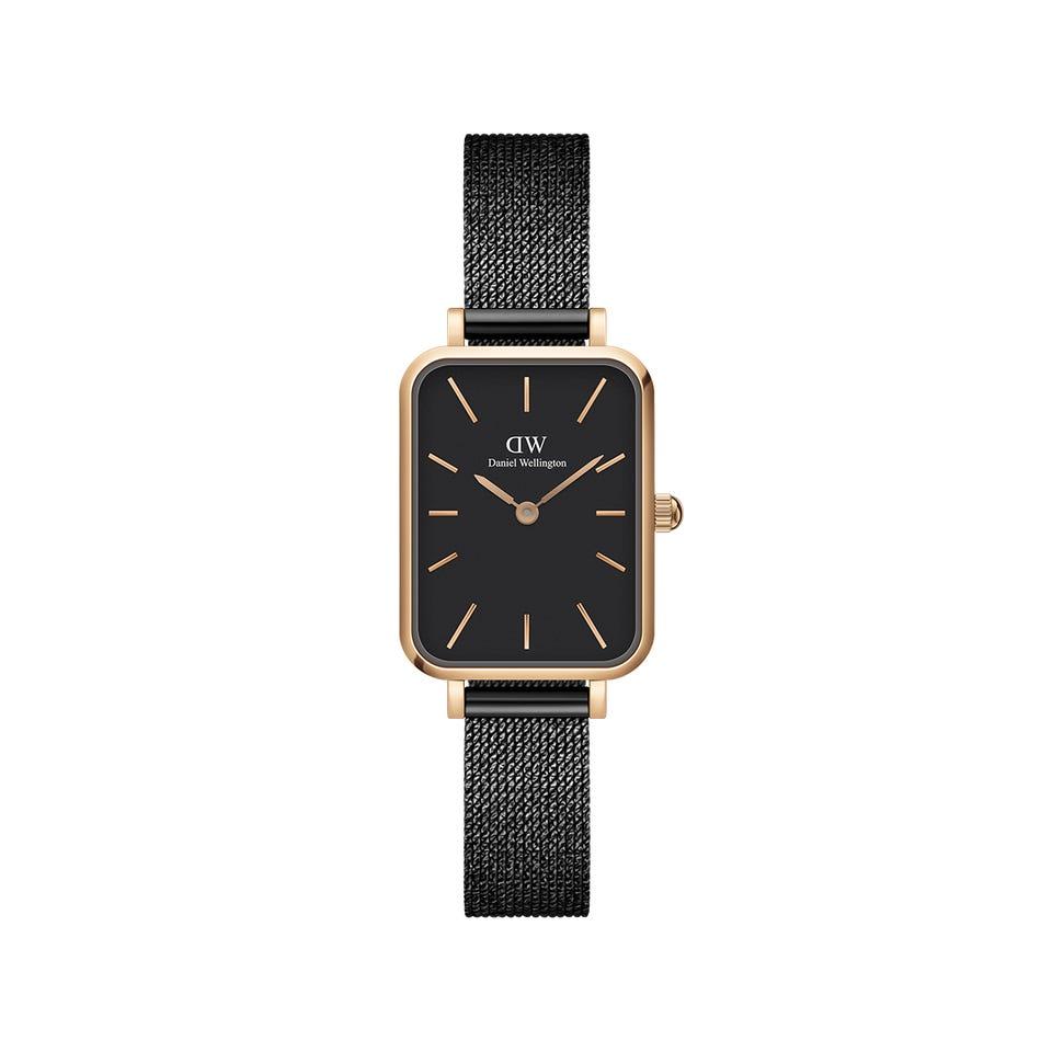 Daniel Wellington Quadro Pressed Ashfield ur, black, 32 mm