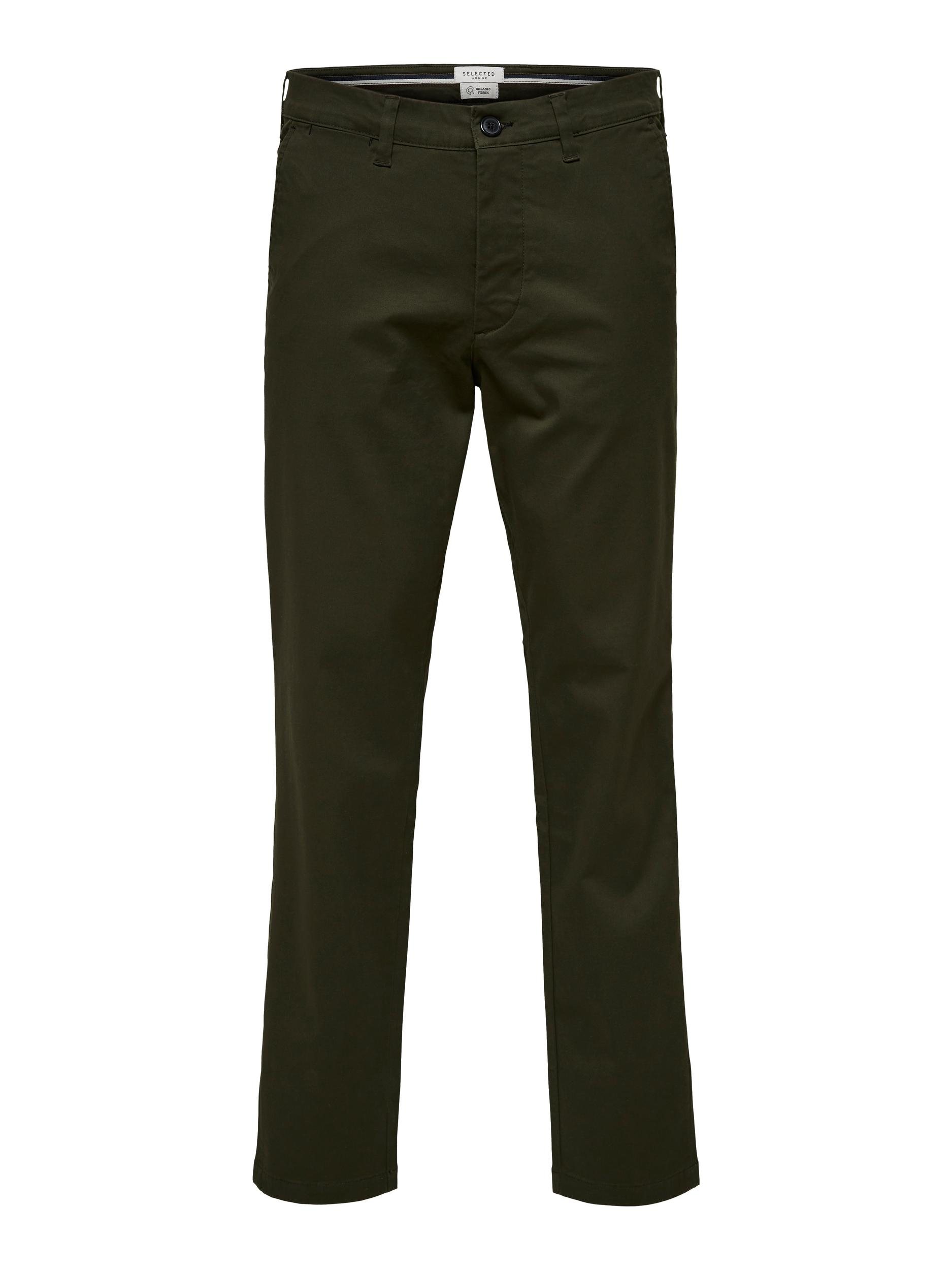 Selected Homme Miles Slim Flex chinos, forest night, 31/32