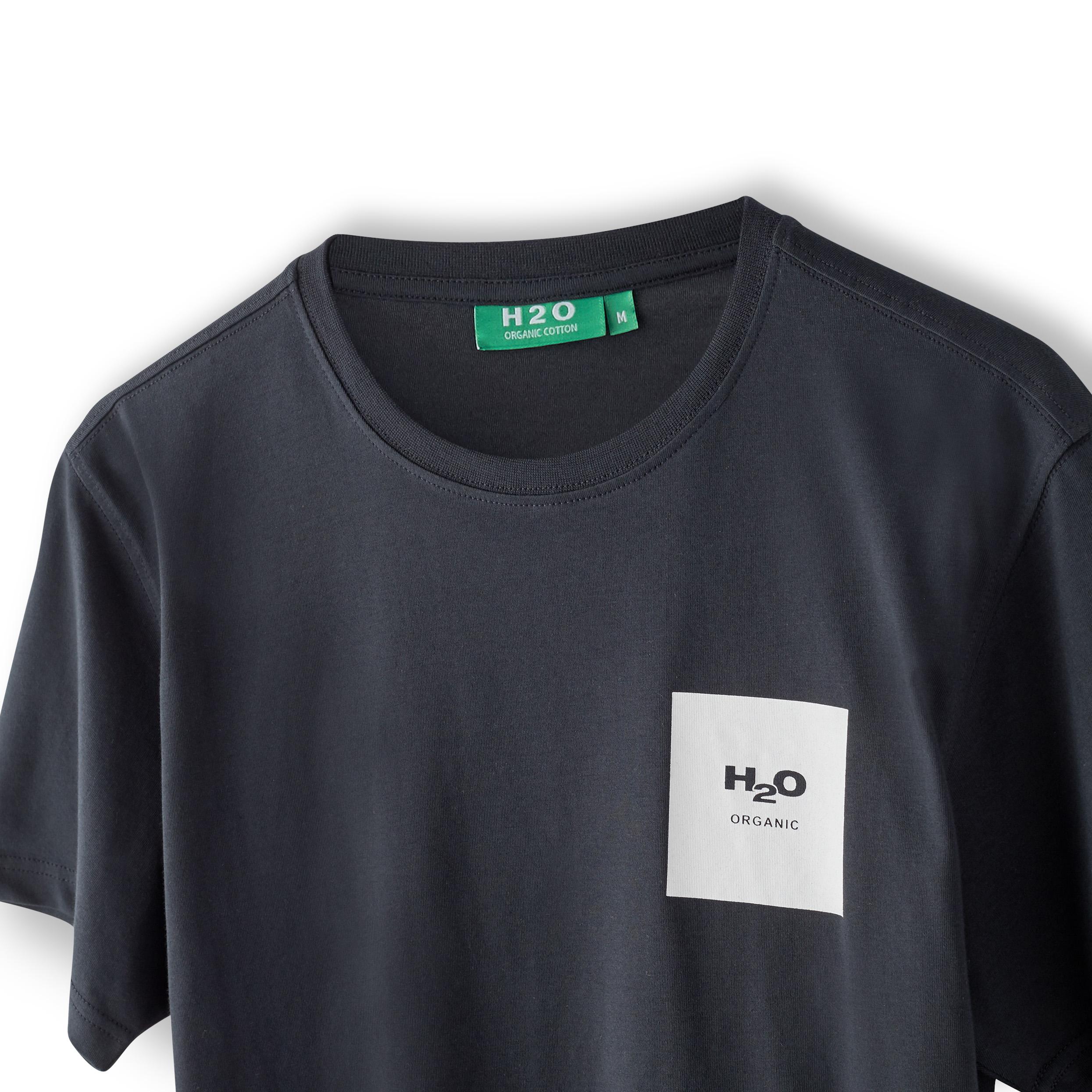 H2O Lyø t-shirt, navy/white, x-small