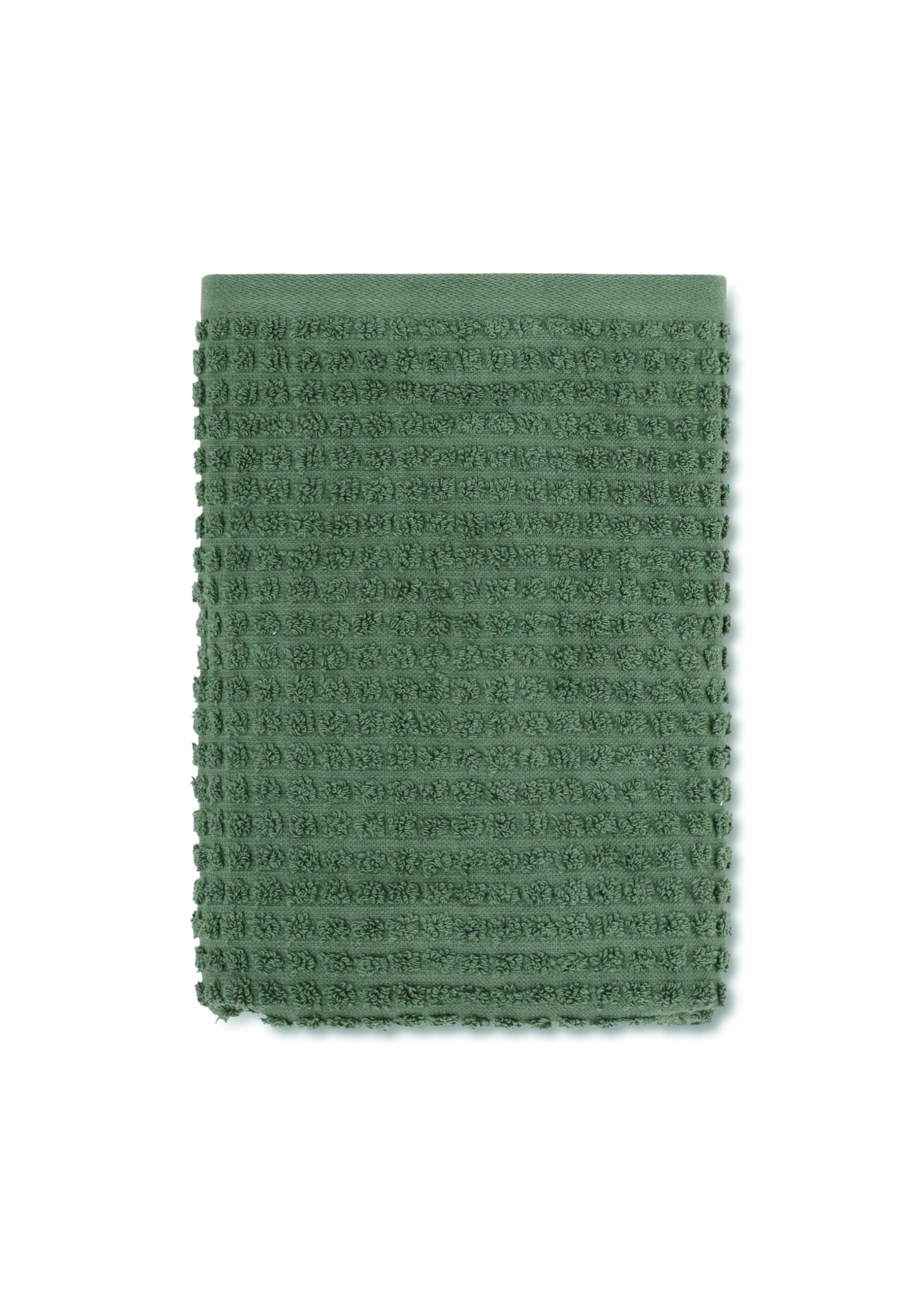 Juna Check håndklæde, 50x100 cm, mørkegrøn