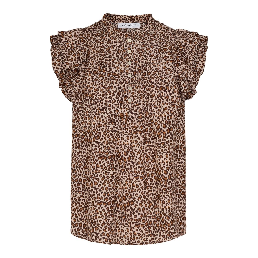 Co'Couture Mini Leo top, khaki, x-small