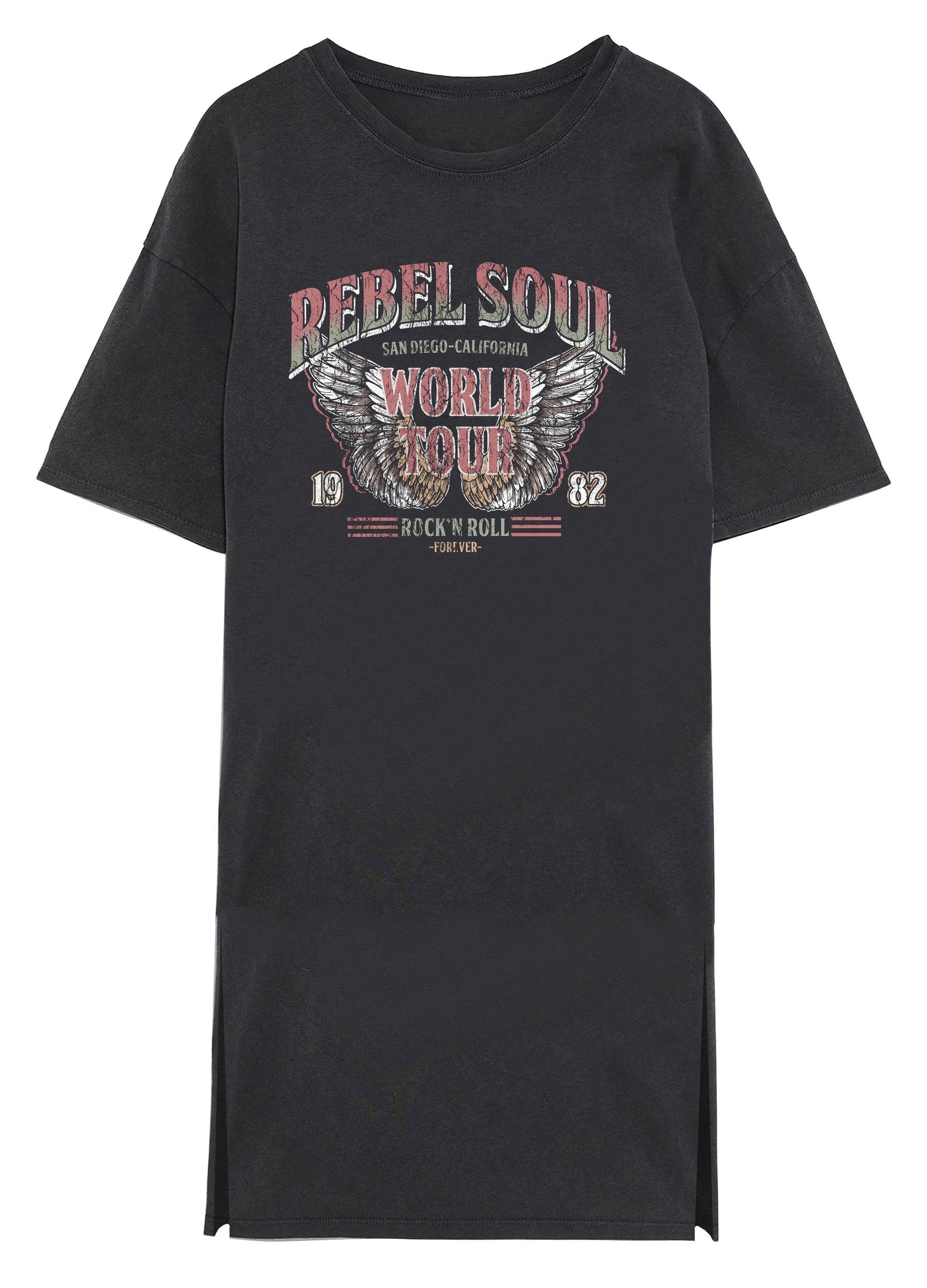 Vero Moda Forever print kjole, black soul, medium