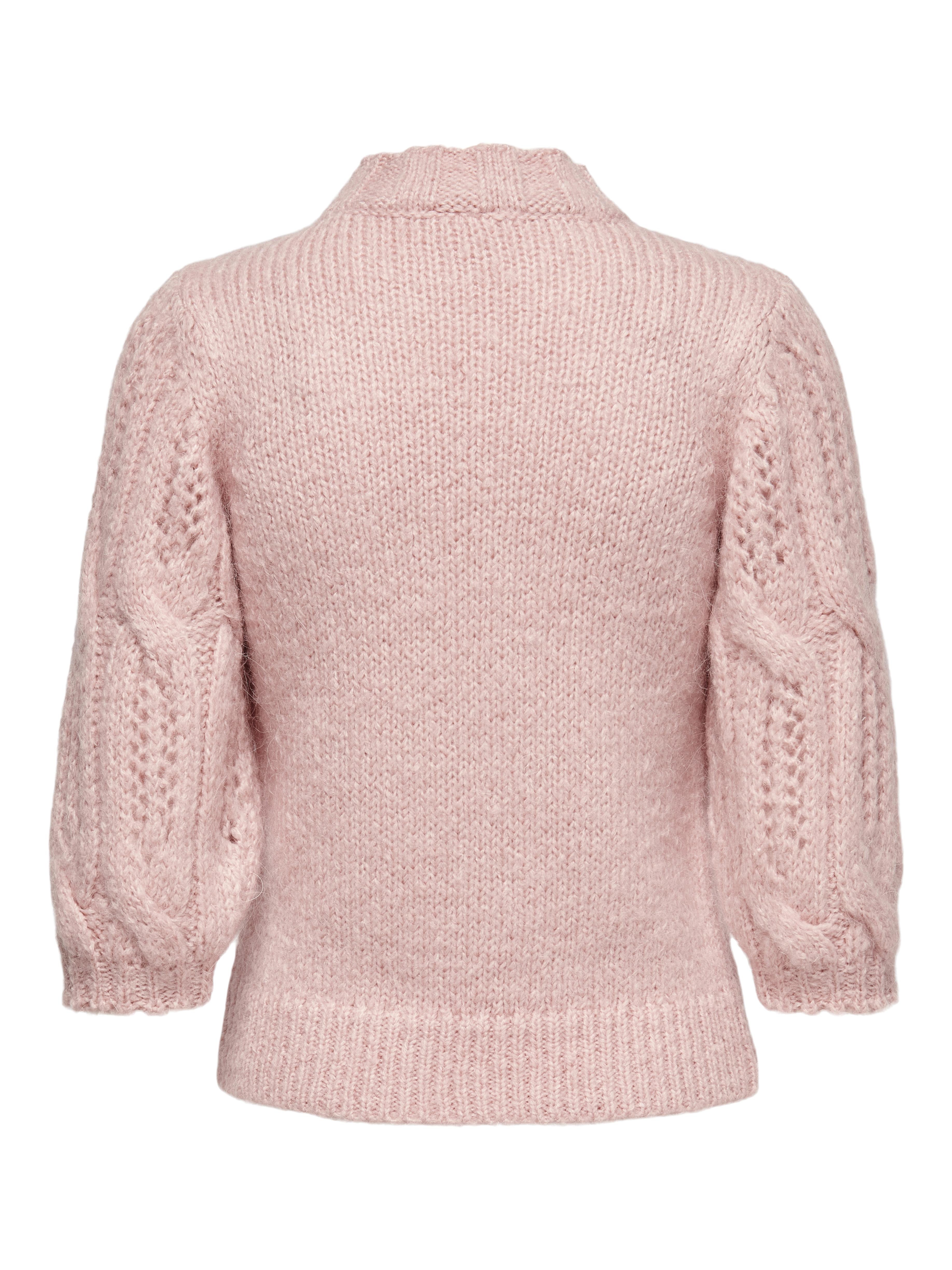 ONLY Sussie striktrøje, silver pink, S