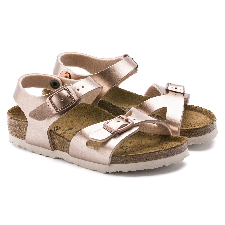 Birkenstock Rio Birko-Flor sandal, electric metallic copper, 26
