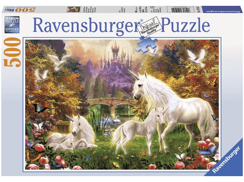 Ravensburger puslespil, Enhjørninger, 500 brikker