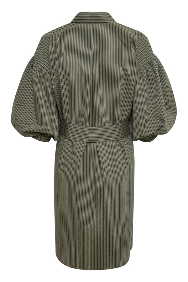 InWear 30106415 kjole, beetle green stripe, 36