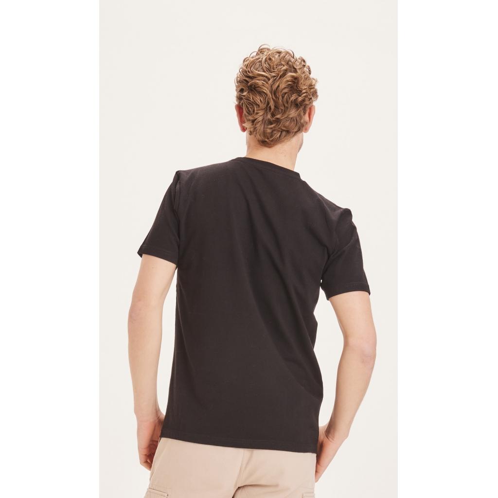 Knowledge Cotton Apparel Alder badge t-shirt, total eclipse, xxx-large