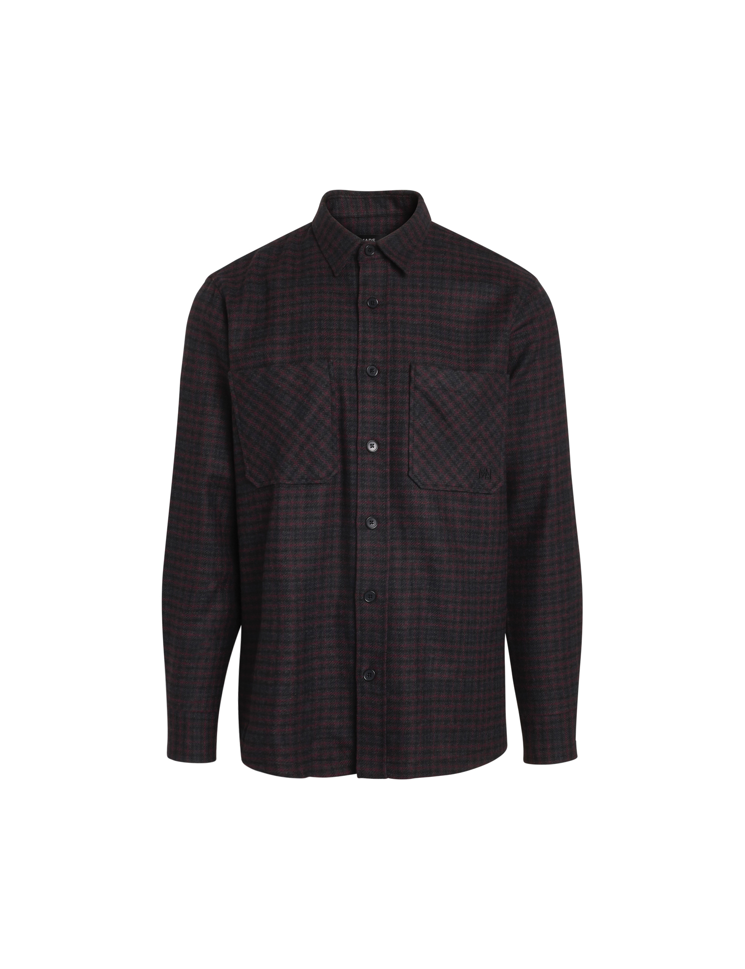 Mads Nørgaard Lema Blend Sapp skjorte, grey check, S