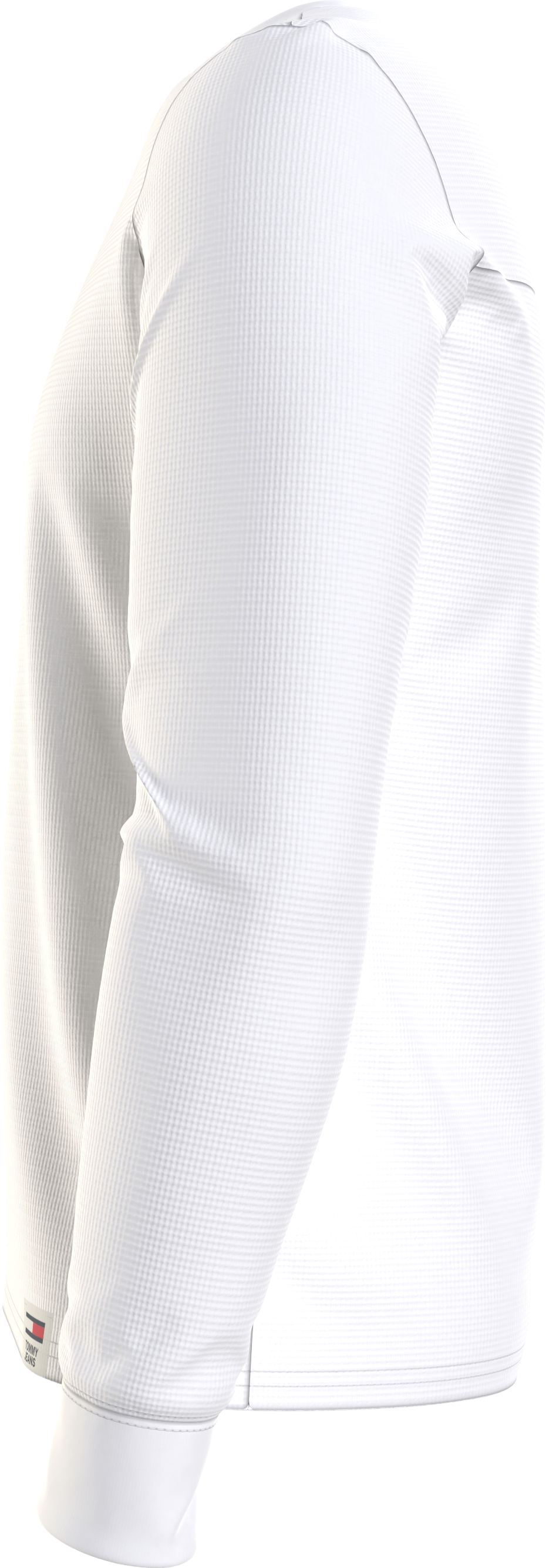 Hilfiger Denim Waffle Snit Sweatshirt, Hvid, M