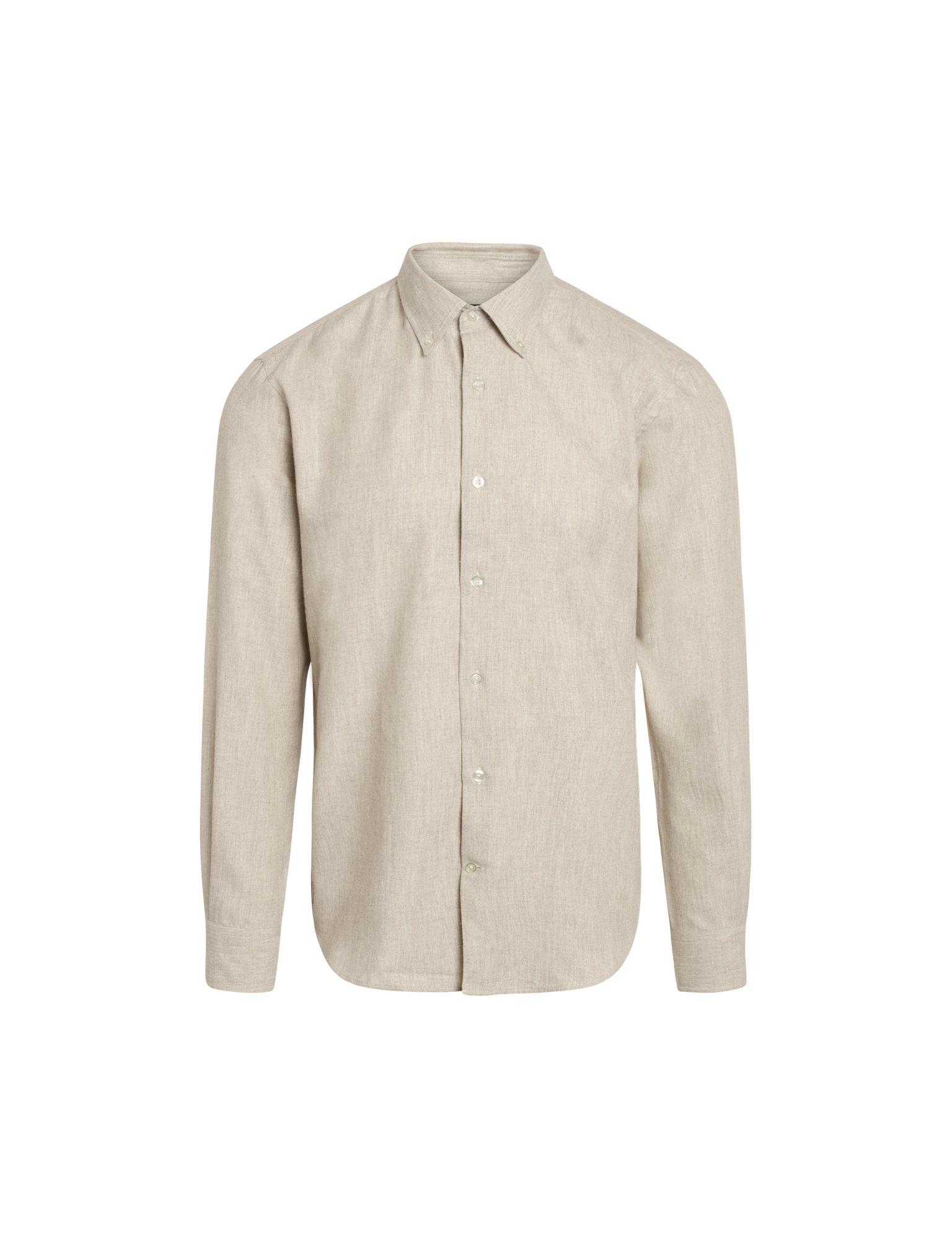 Mads Nørgaard Flamel Saul skjorte, oatmeal, large