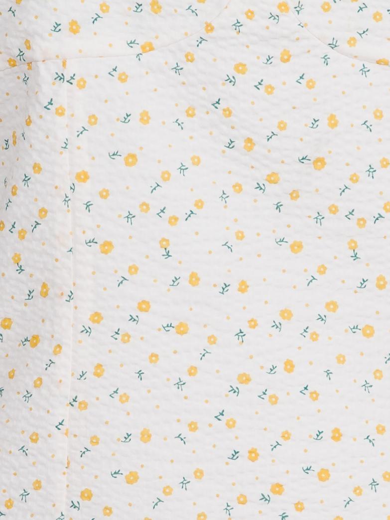 Neo Noir Lolulla Lemon Flower top, light yellow, 38