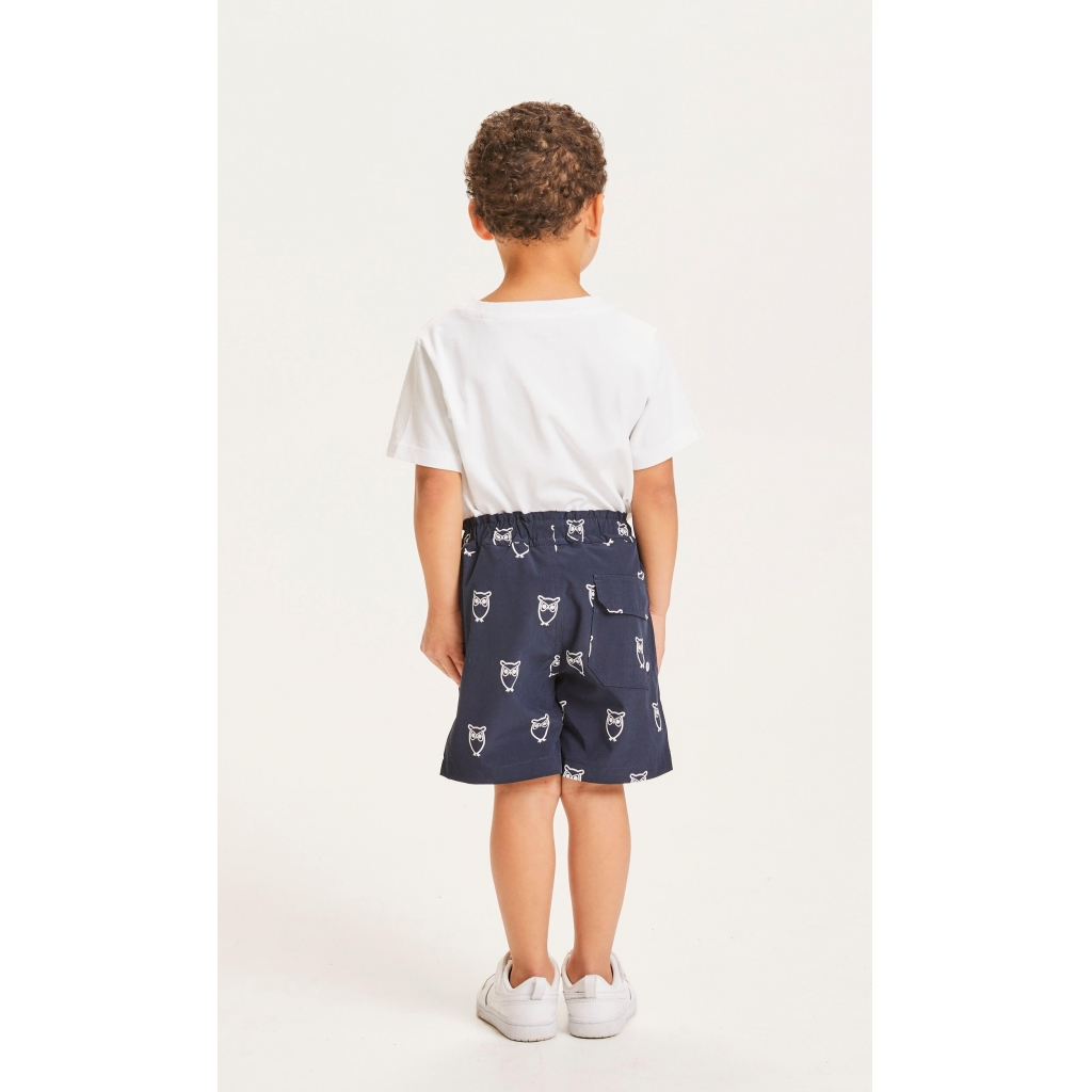 Knowledge Cotton Apparel Bay Owl badebukser, total eclipse, 134/140