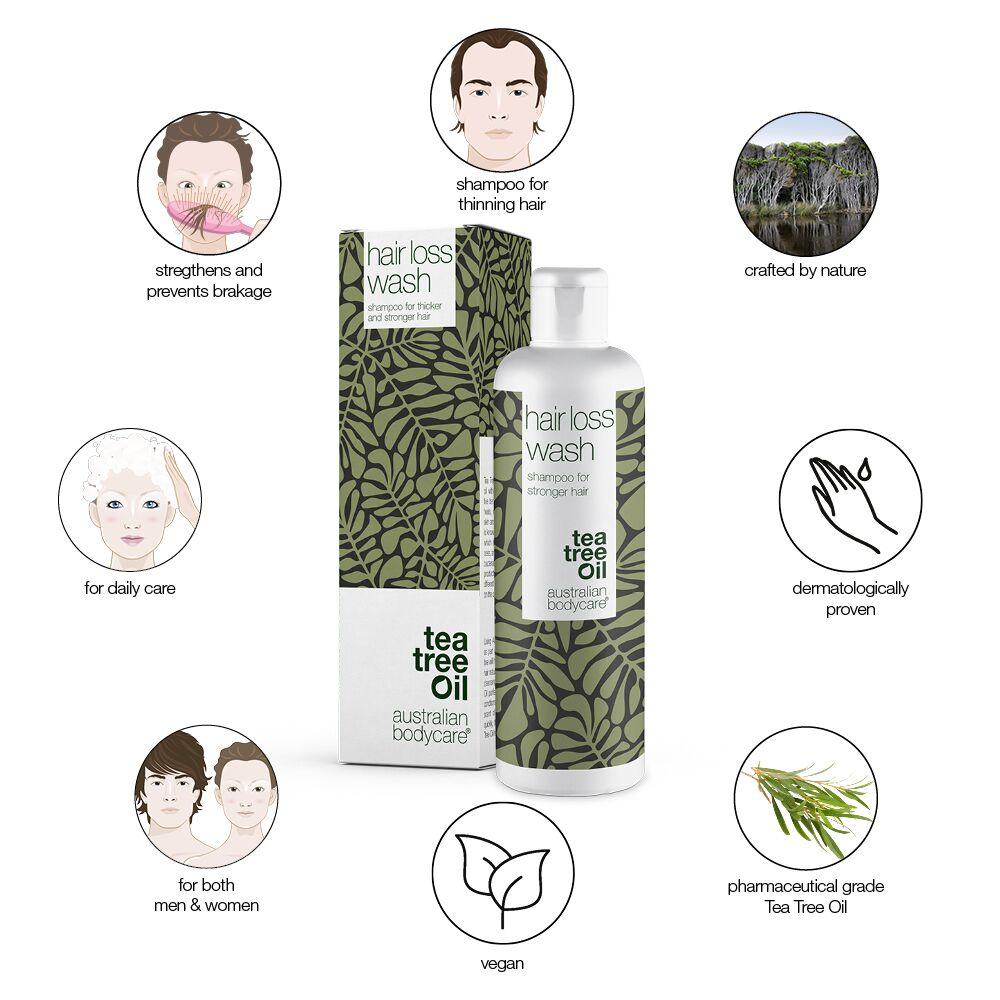 Australian Bodycare Hair Loss Wash Shampoo, 250 ml
