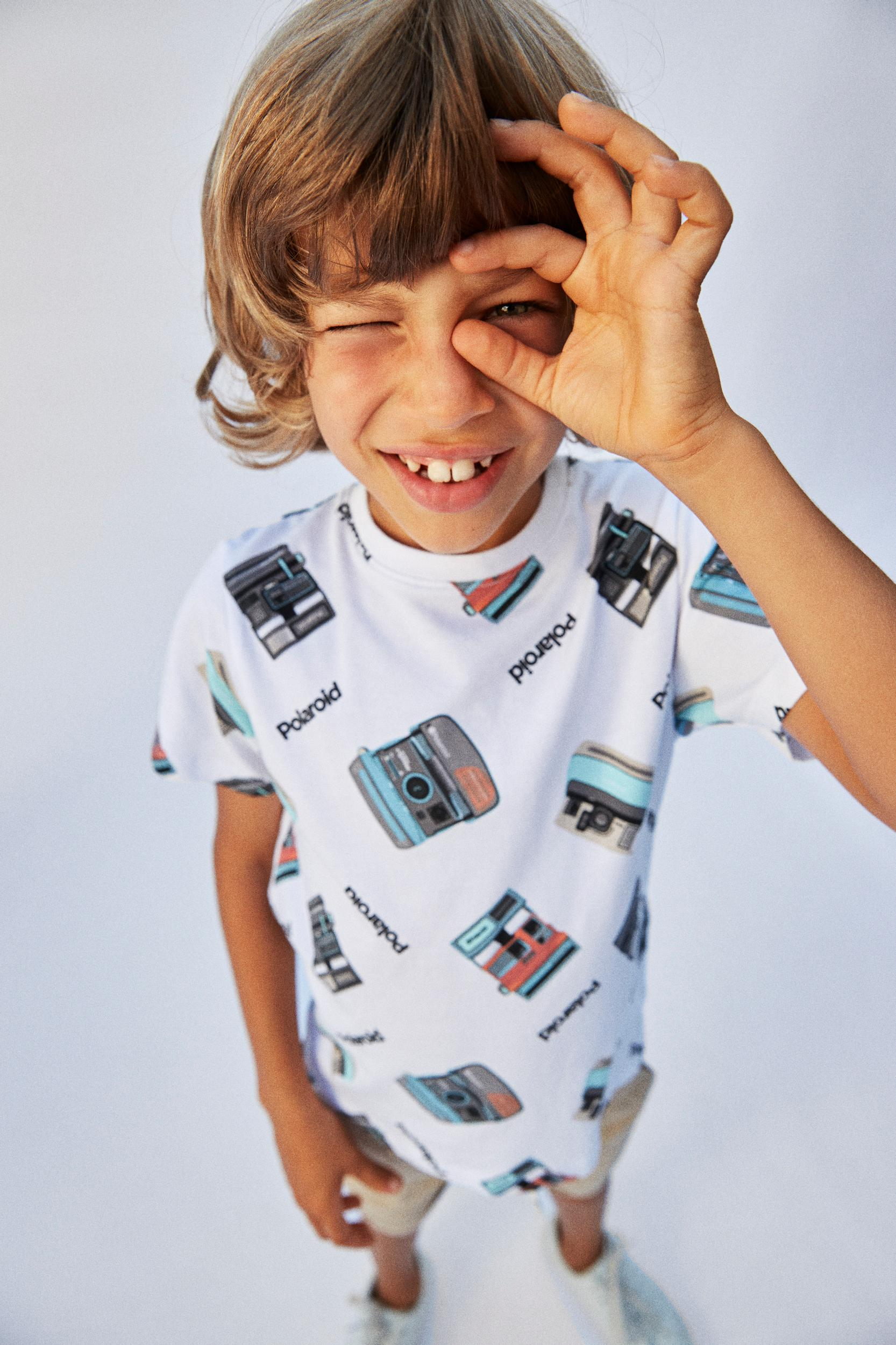 Name It Polaroid SS t-shirt, bright white, 116