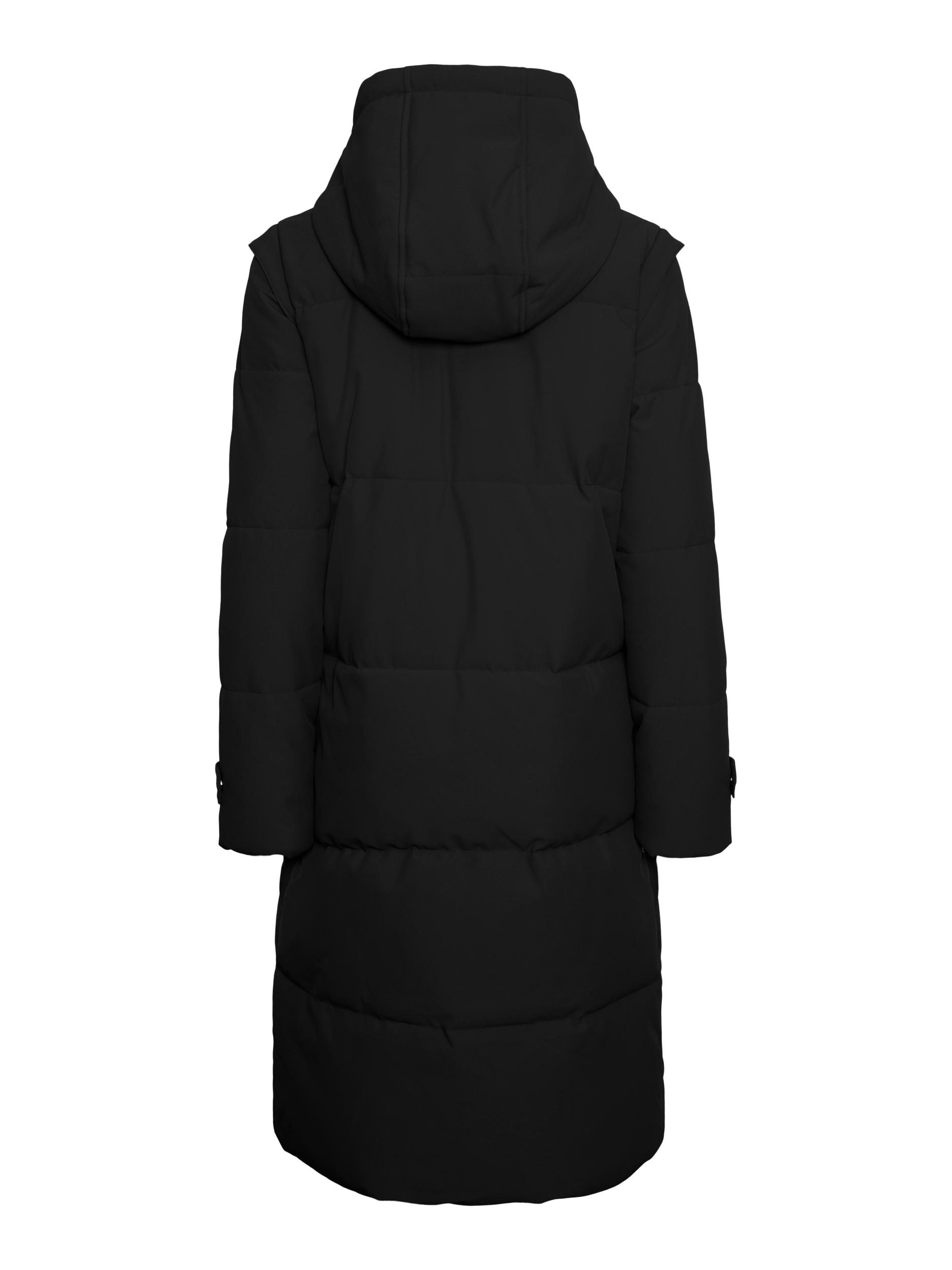 Vero Moda Margaret lang jakke, black, large