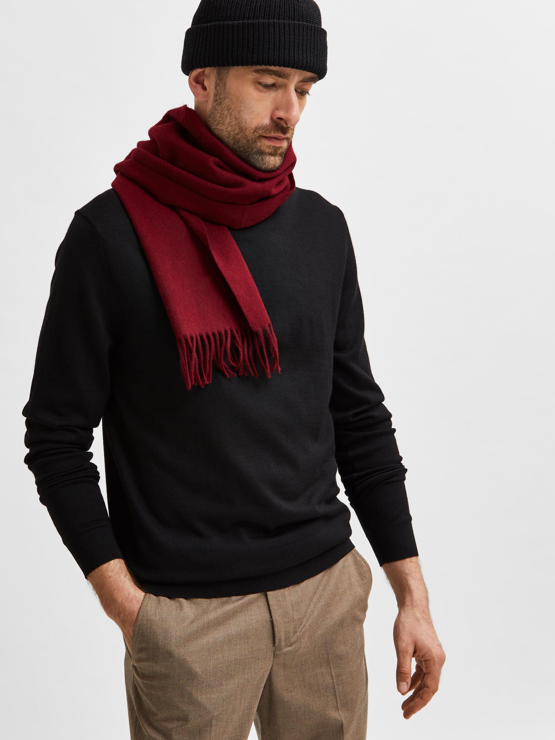 Selected Homme Town Merino LS trøje, black, medium