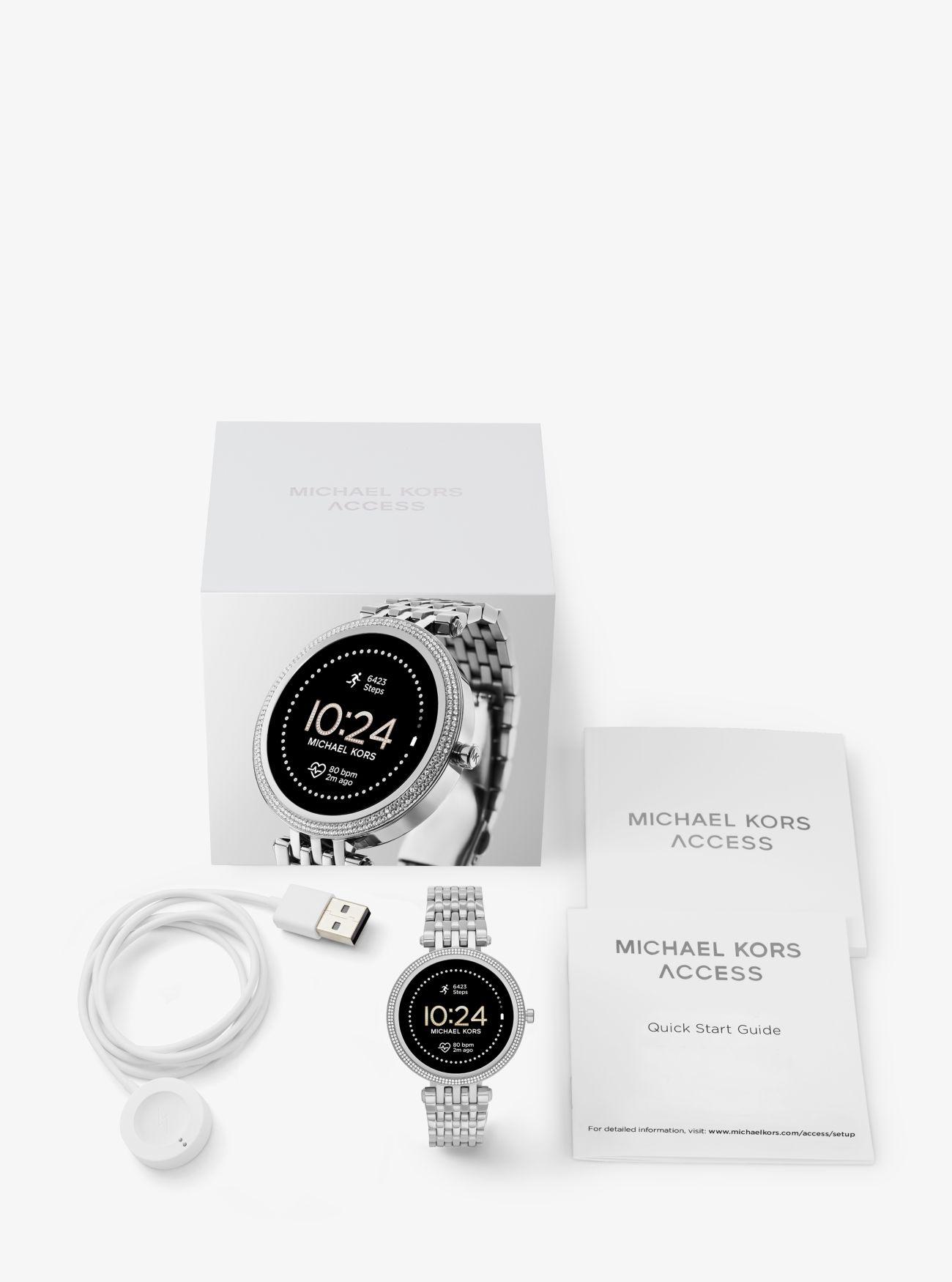 Michael Kors Darci Pavé Gen 5E Smartwatch, Silver-Tone