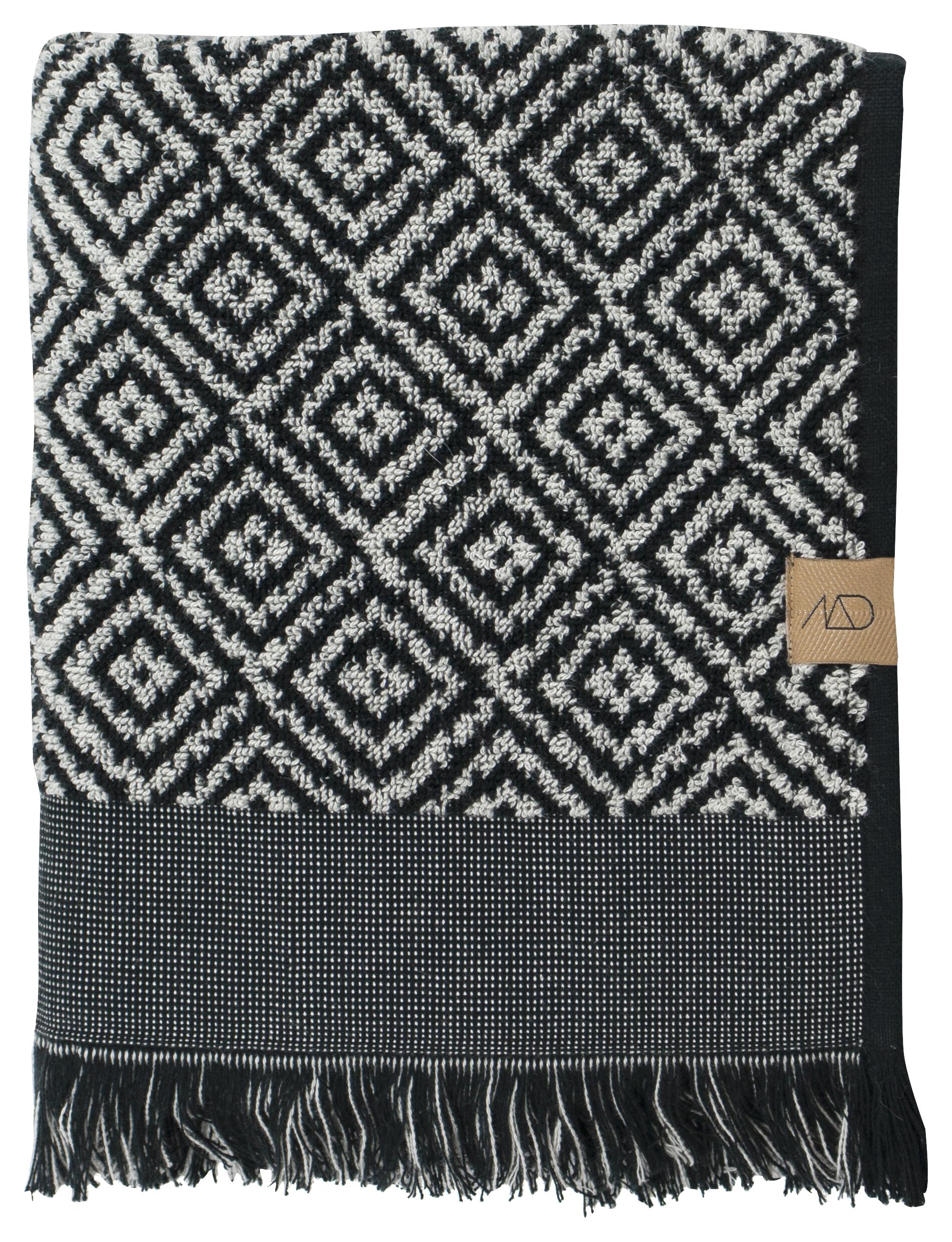 Mette Ditmer Morroco håndklæde, 35x60 cm, sort/hvid, 2 stk