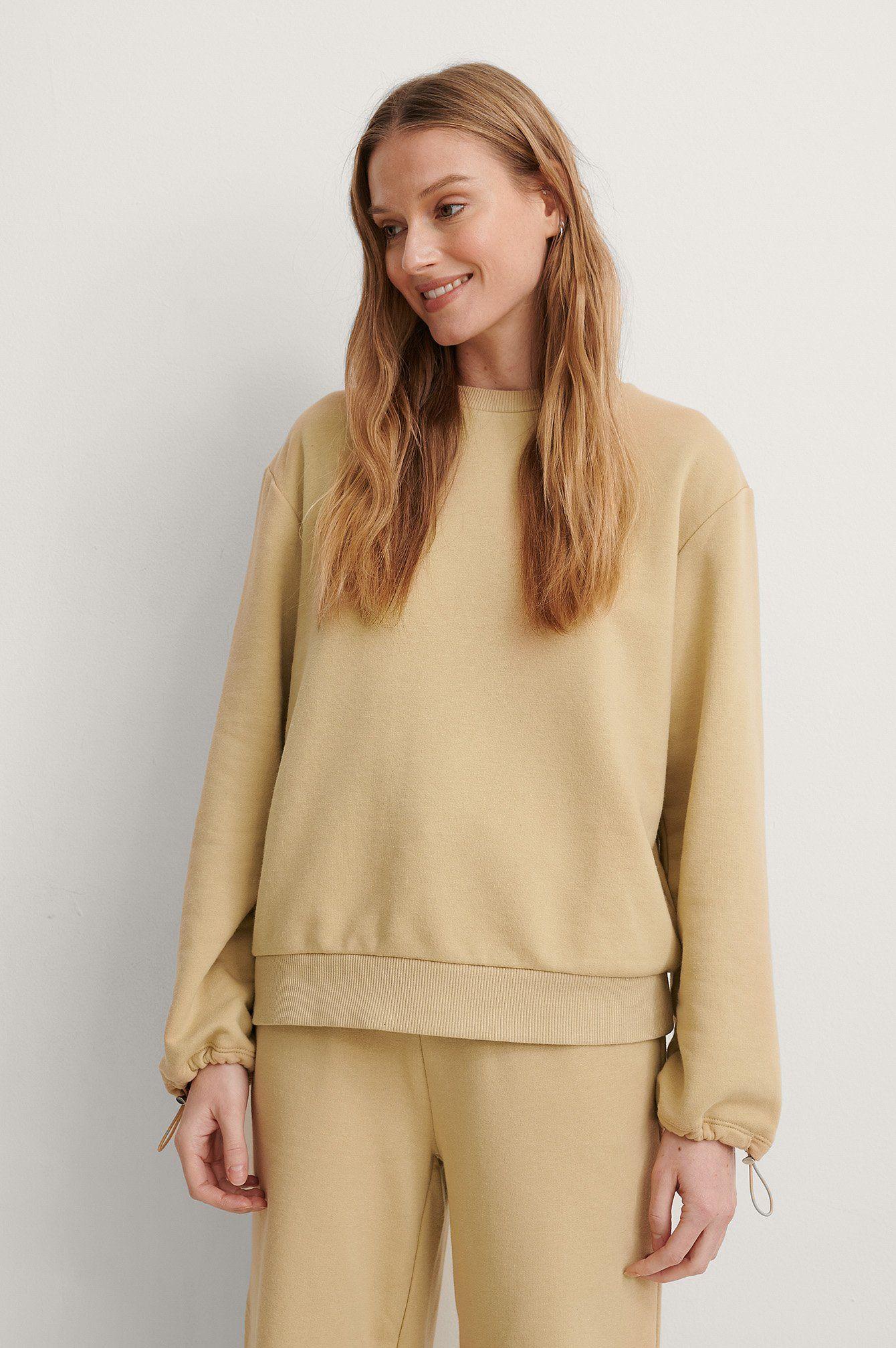 NA-KD Sweatshirt, beige, x-large