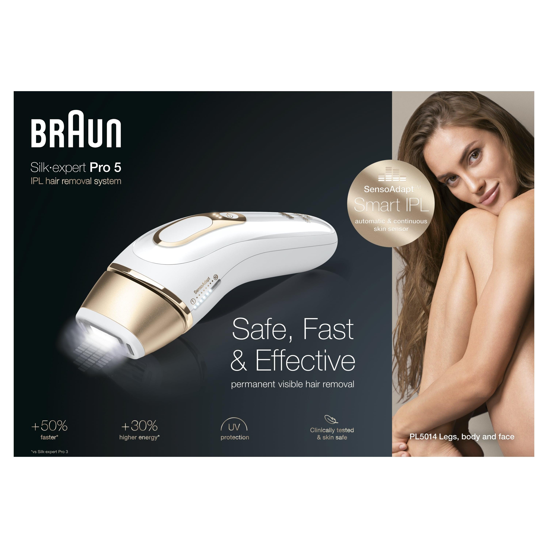 Braun Silk-expert Pro 5 PL5014 epilator, grey pouch