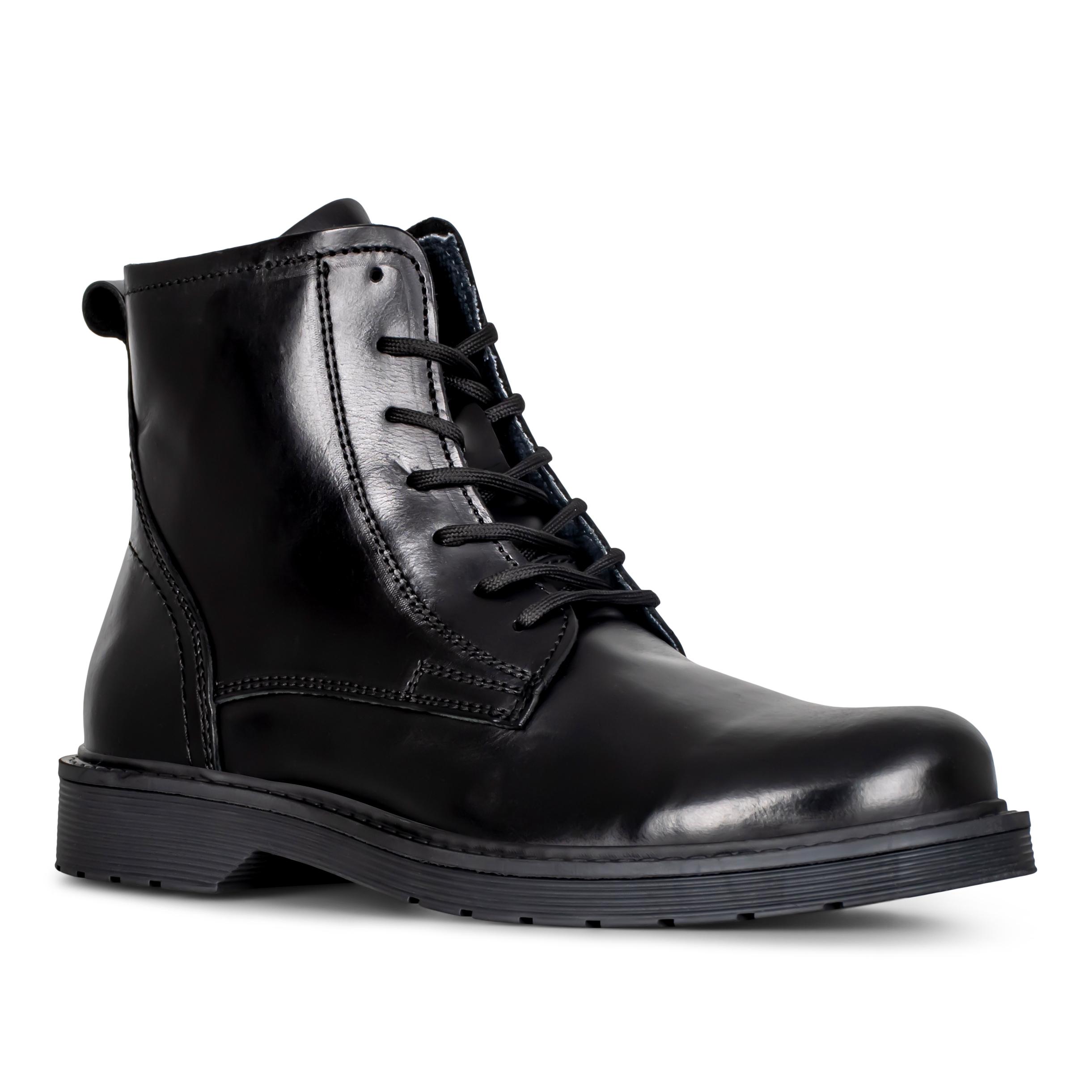 Selected Læder støvle