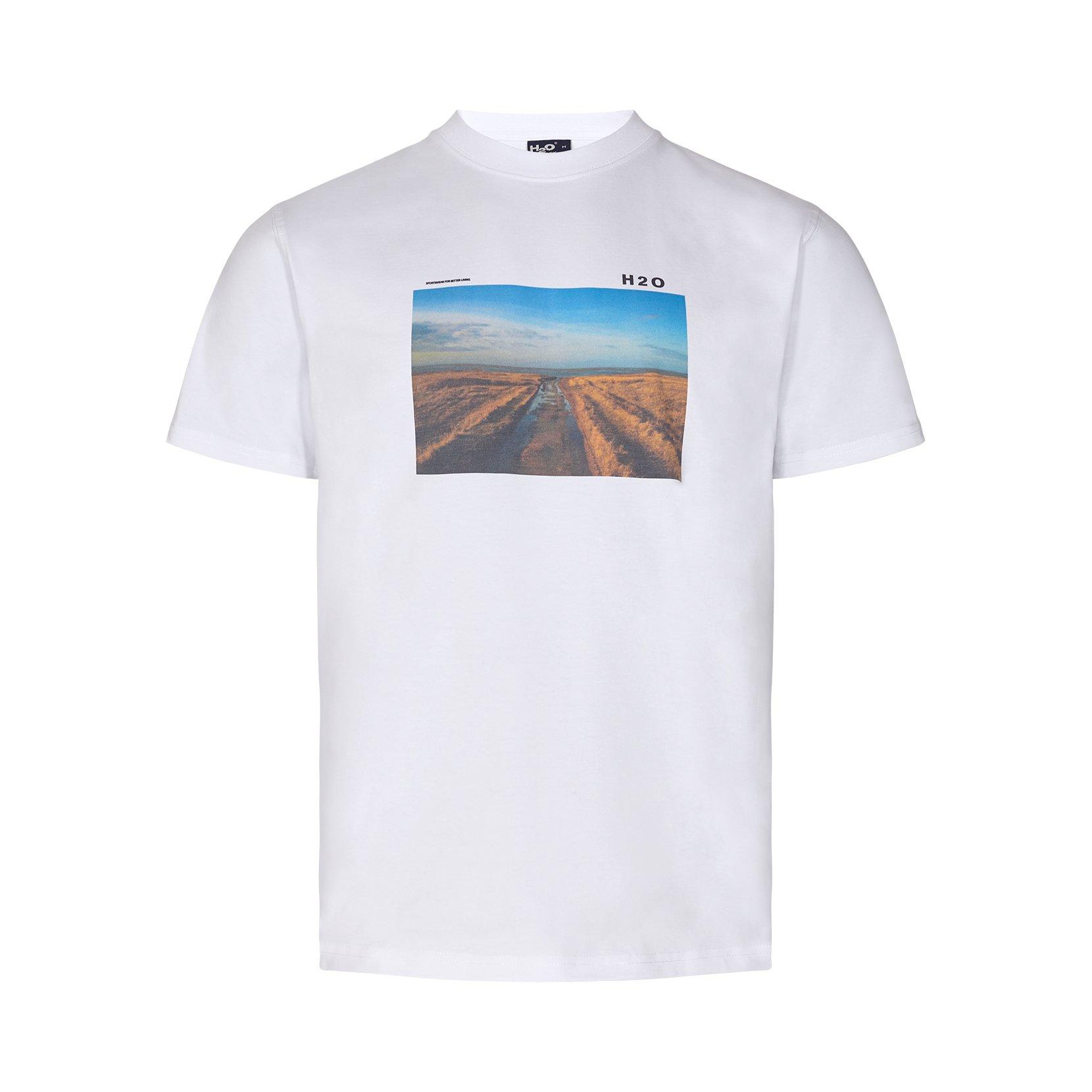 H2O Lilleø SS t-shirt, white/red, x-large