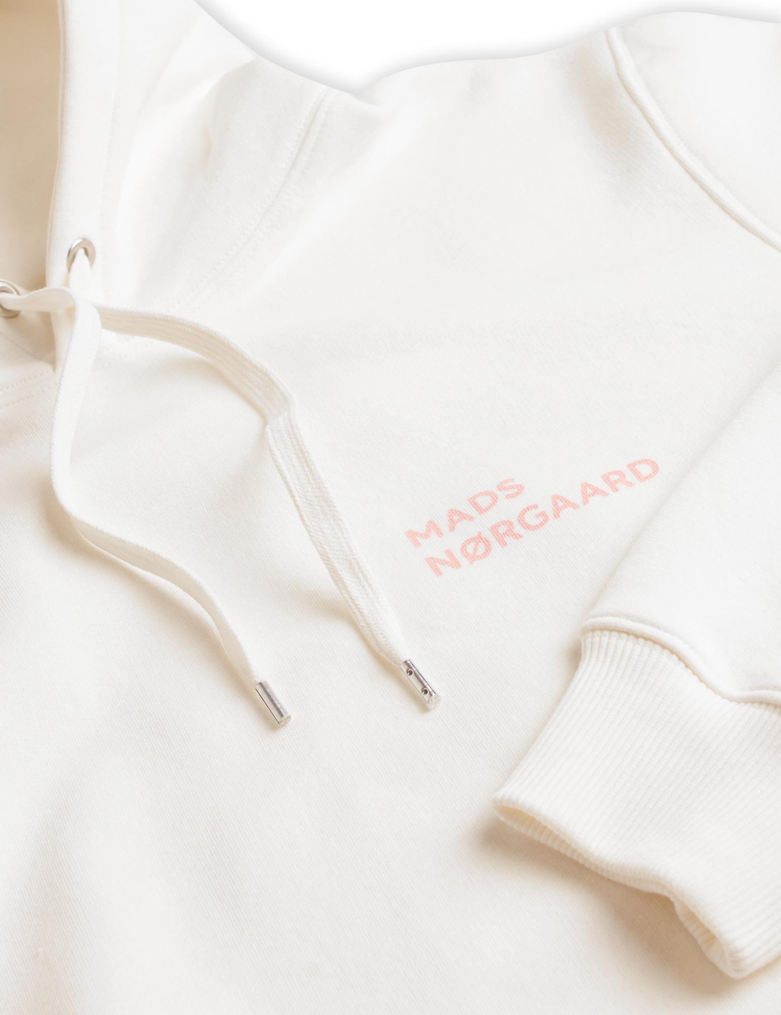 Mads Nørgaard New Standard Logo hættetrøje, marshmallow, small