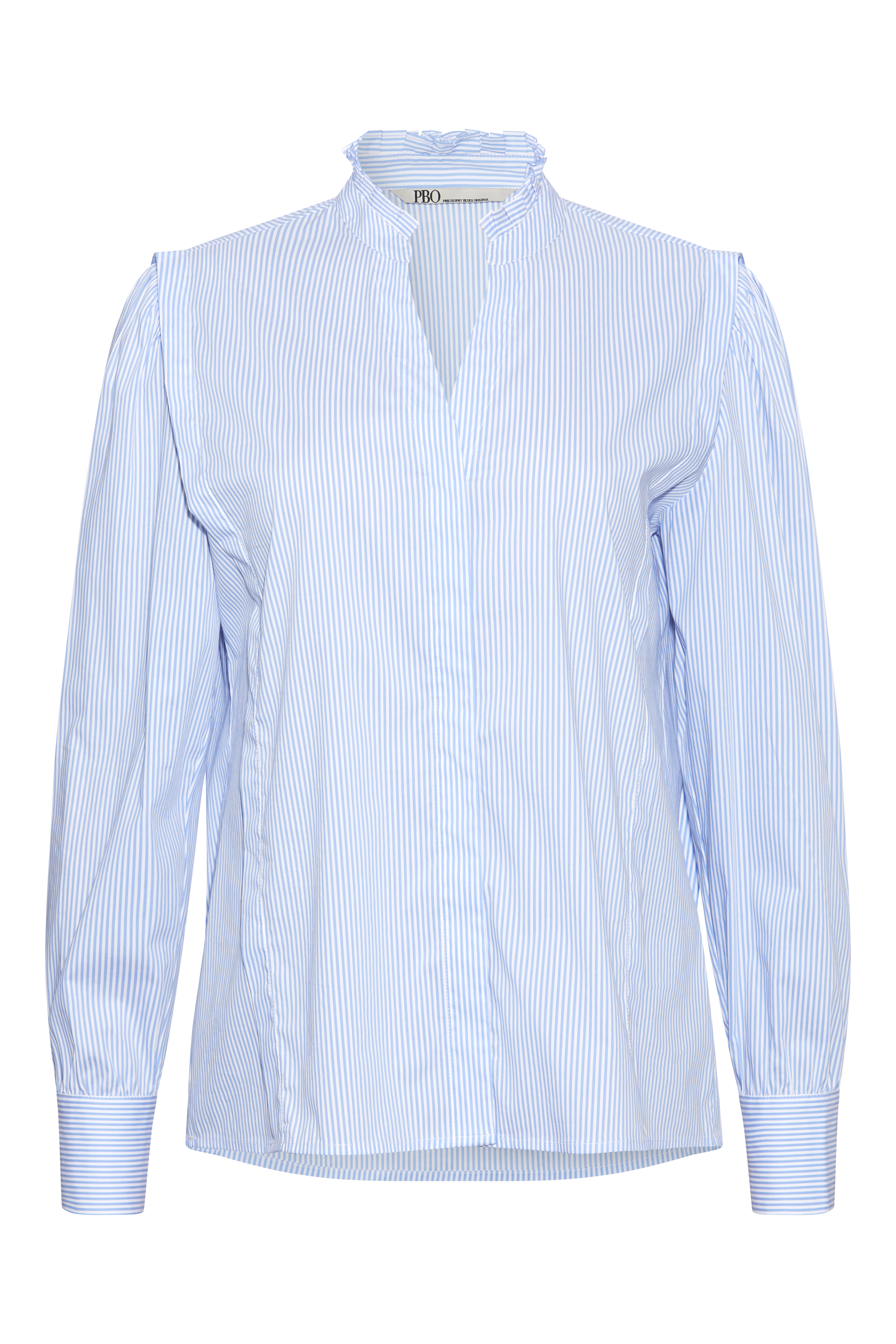PBO Marlor skjorte, blue stripe, 38