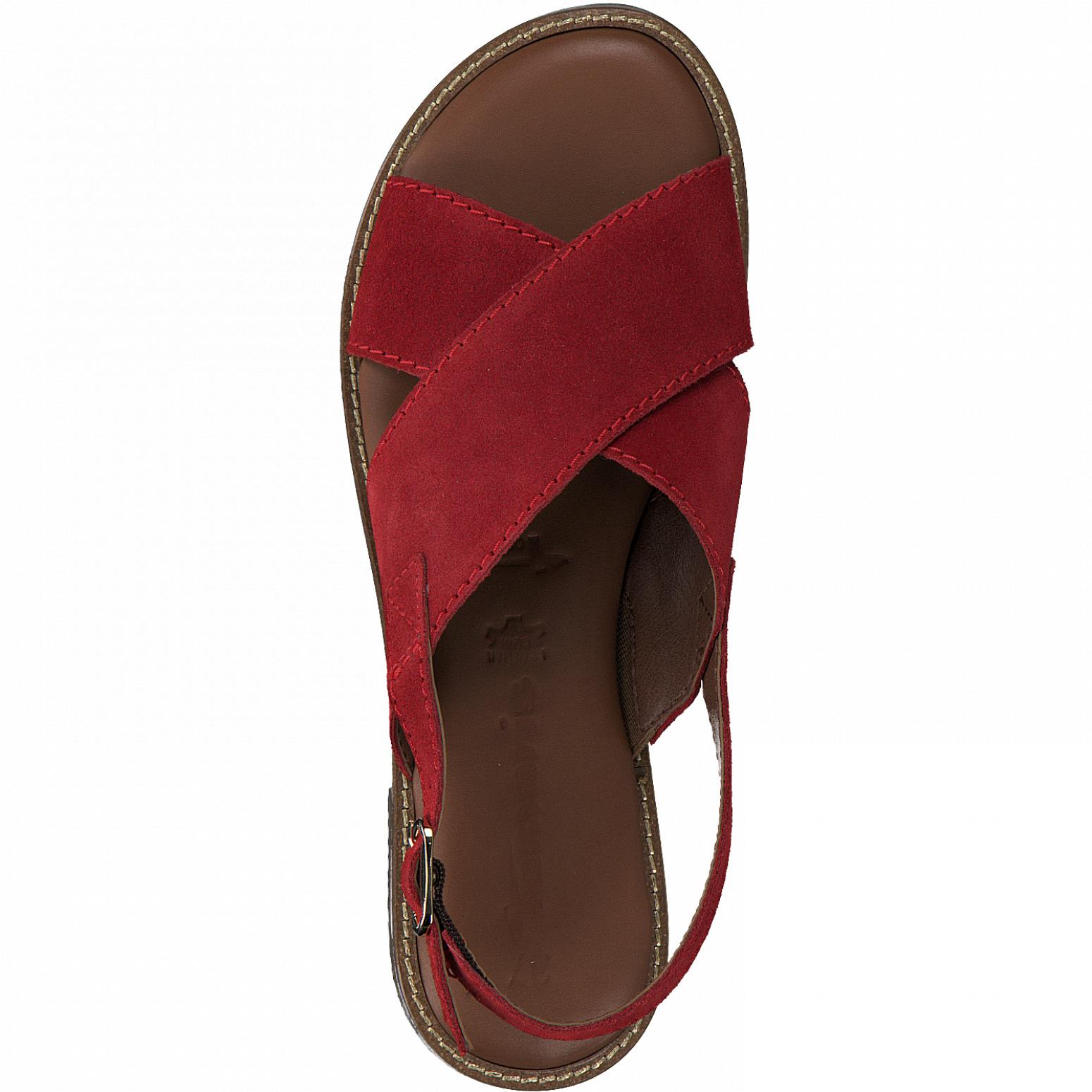 Tamaris 28119 sandal, red, 39