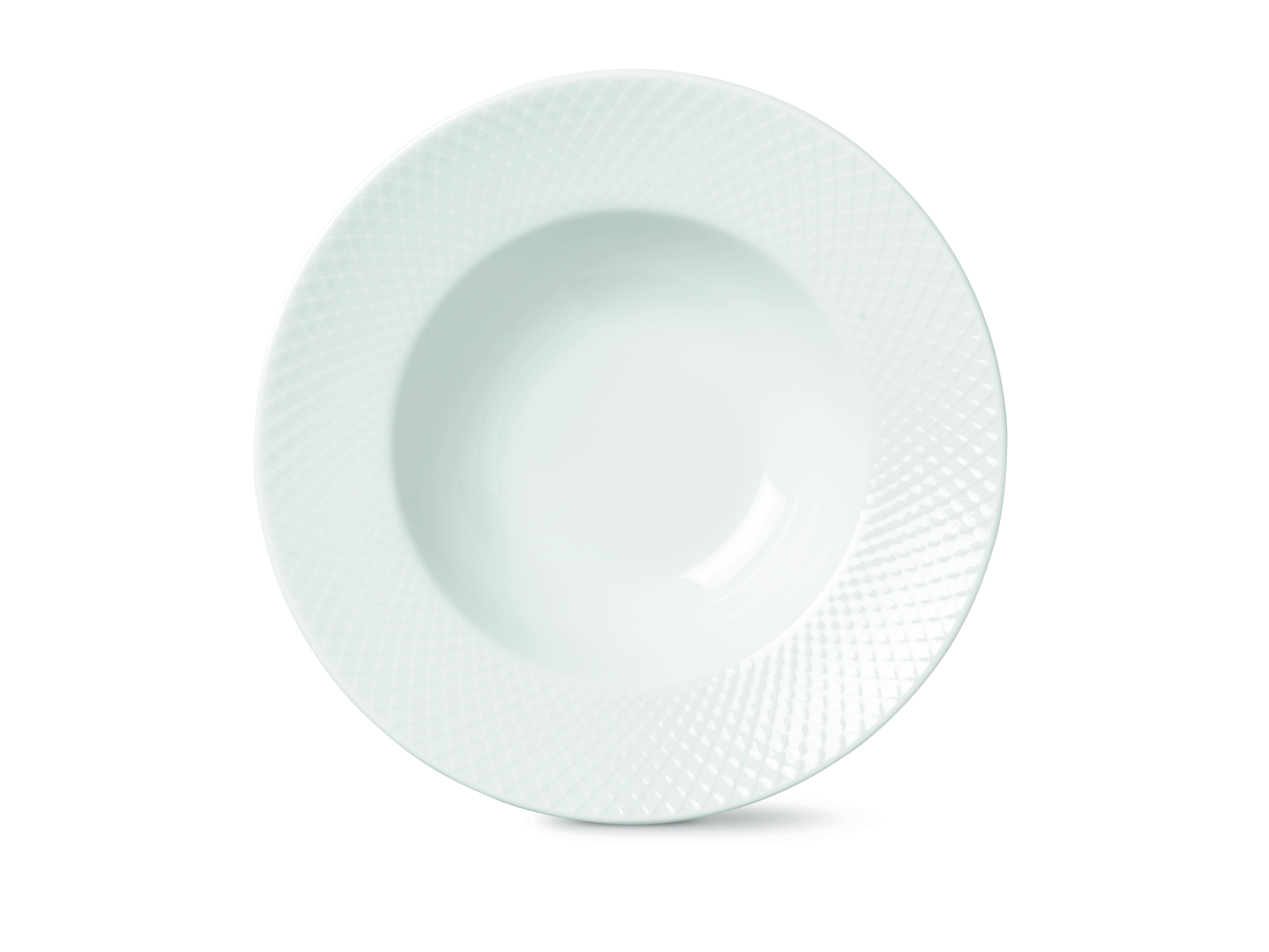 Lyngby Porcelæn Rhombe pastatallerken, Ø24,5 cm
