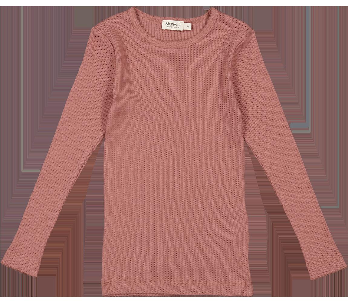 MarMar Tamra langærmet t-shirt, gooseberry rose, 98 cm