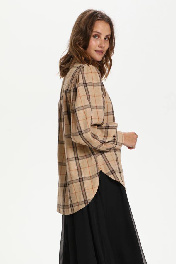 Saint Tropez HubbaSZ skjorte, light taupe, xx-large