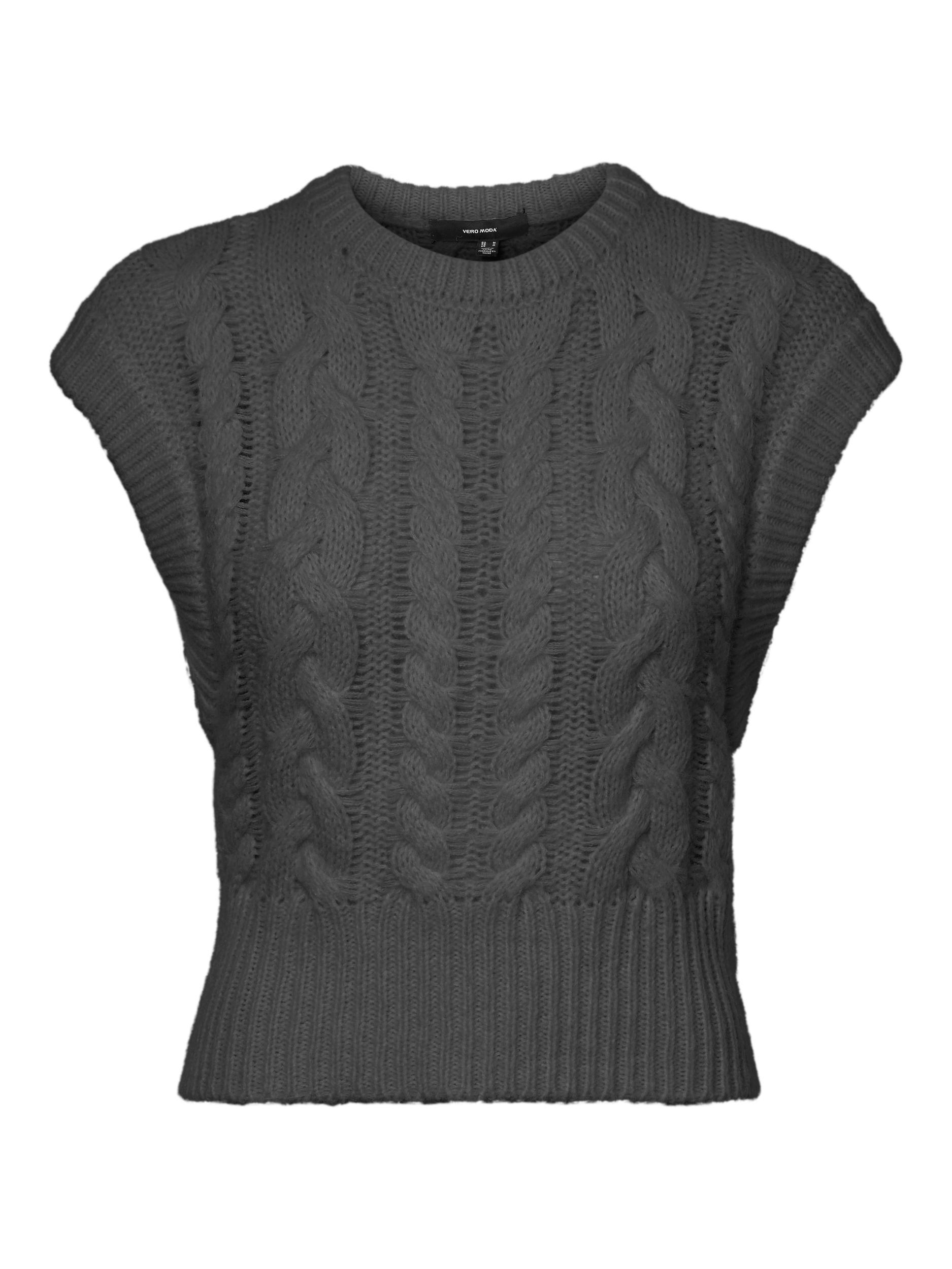 Vero Moda Melanie vest, dark grey melange, small