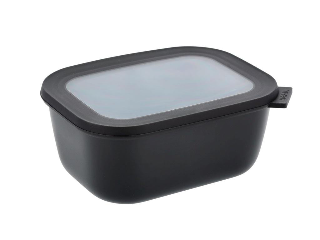 Mepal Cirqula rektangulær skål, 1500 ml, sort
