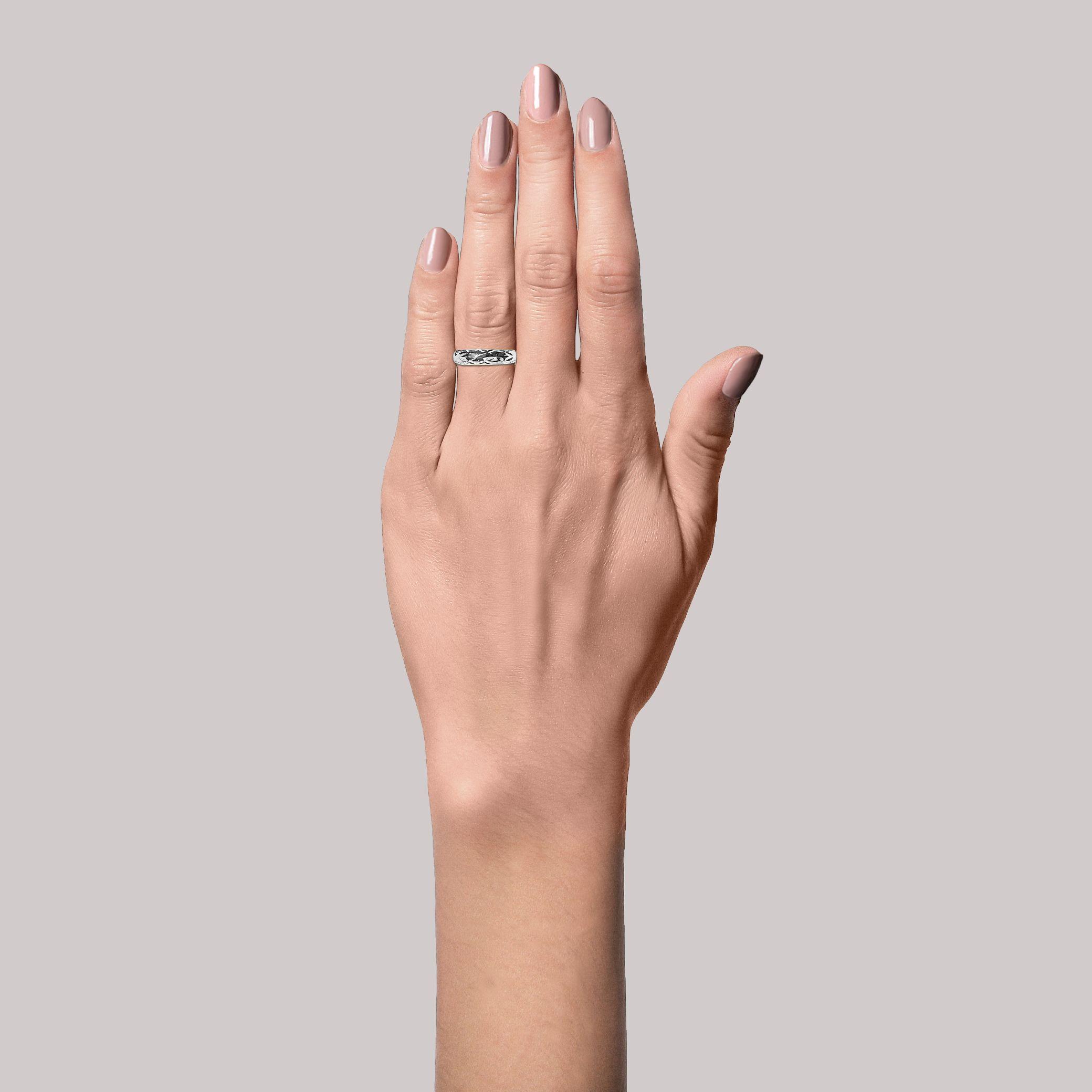 Jane Kønig Big Impression ring, sølv, 50