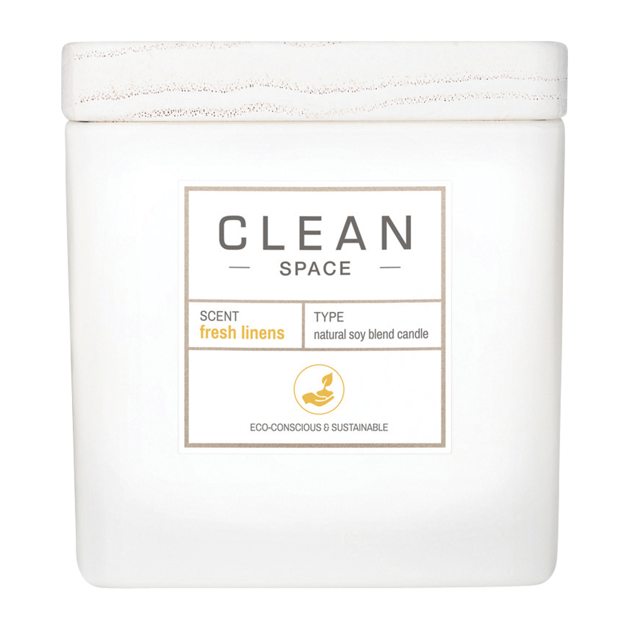 CLEAN Space Fresh Linens Candle, 227 g