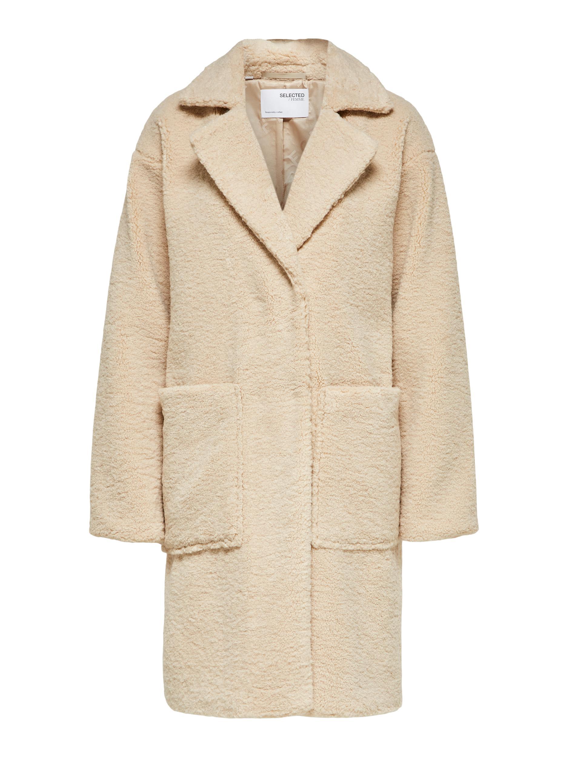 Selected Femme New Nanna Teddy frakke