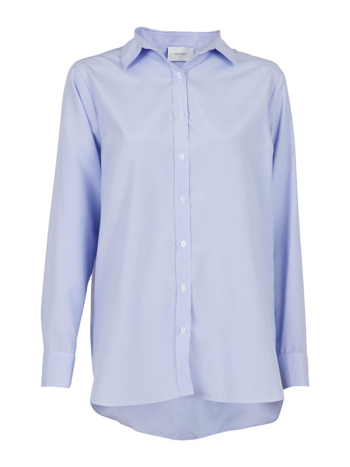 Neo Noir Margit Mini Stripe skjorte, light blue, 34