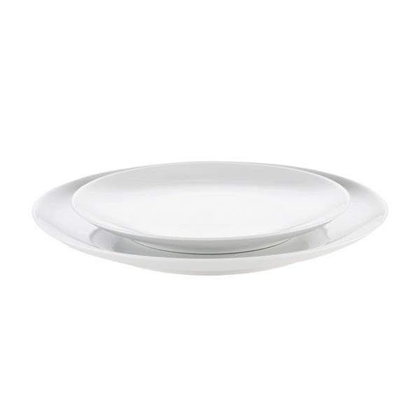 Pillivuyt Cecil desserttallerken, Ø19,5 cm, hvid
