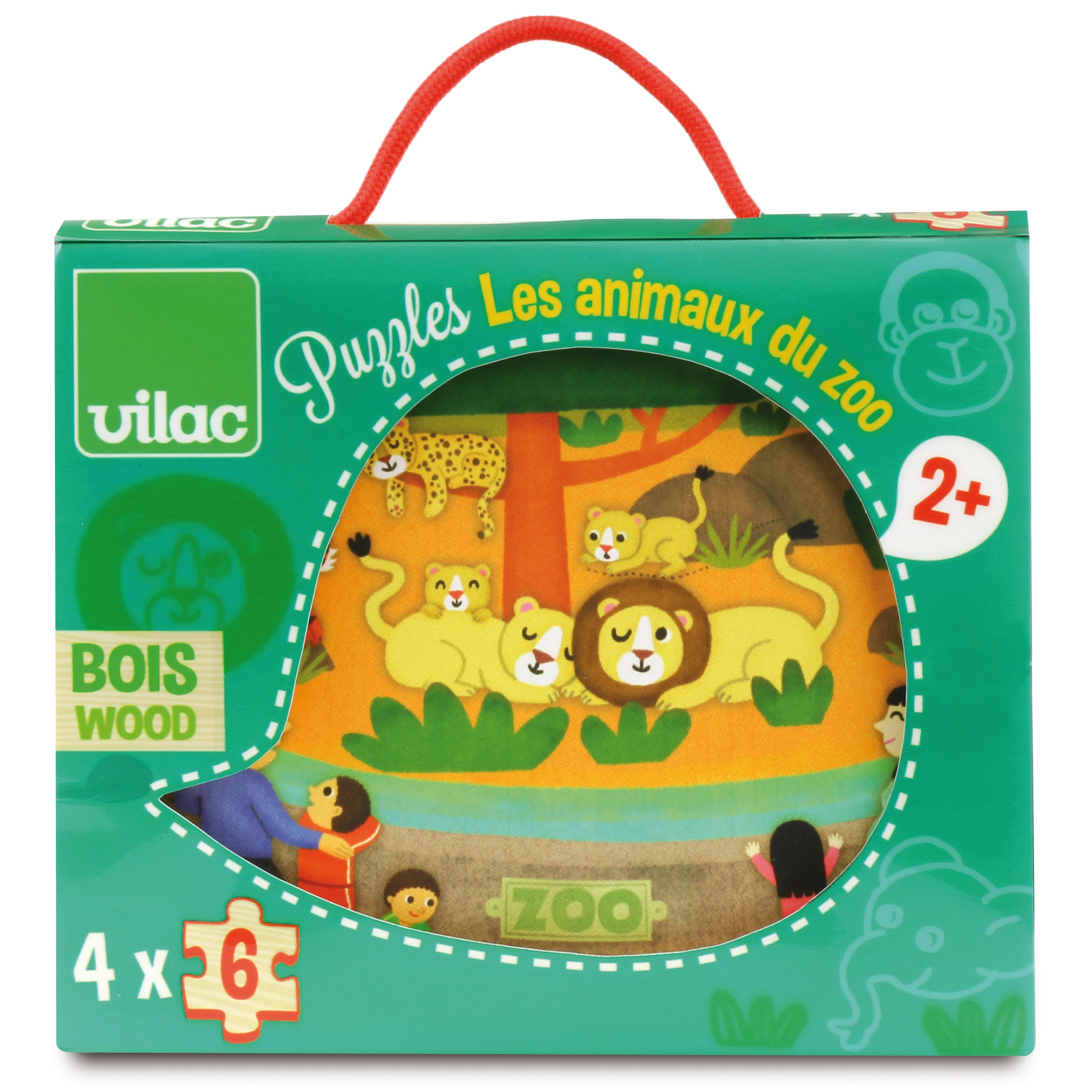Vilac Zoo puslespil, 4x6 brikker