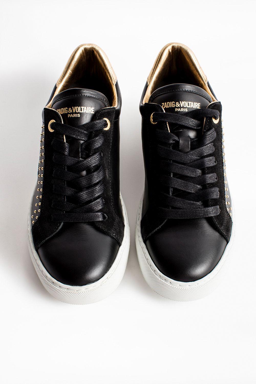 Zadig & Voltaire ZV1747 sneakers, black gold, 40