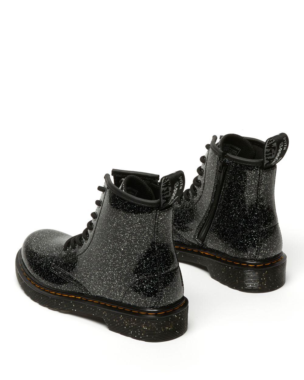 Dr. Martens 1460 Junior Glitter ankelstøvle, sort glitter, 32