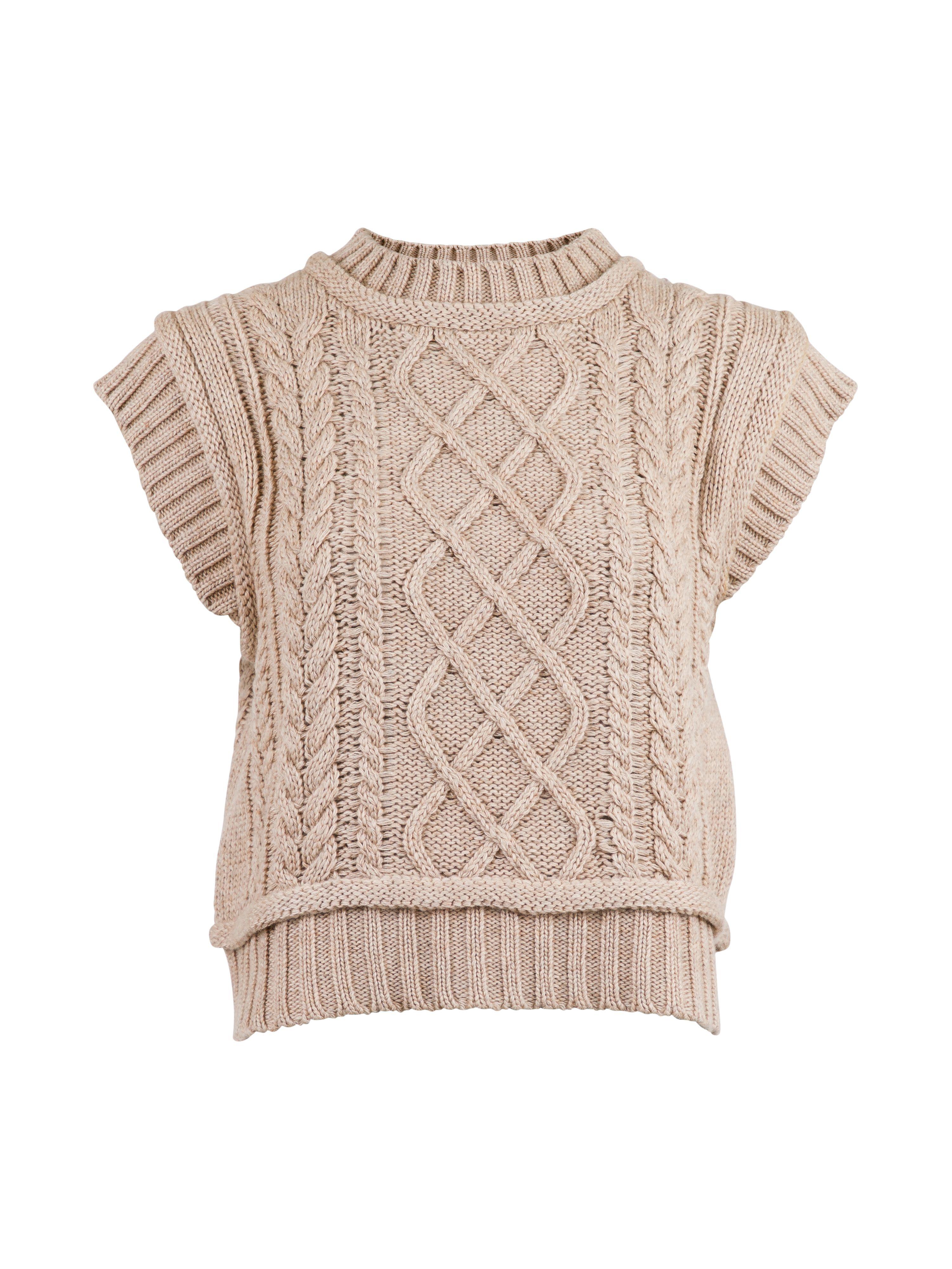 Neo Noir Malley Cable Knit vest
