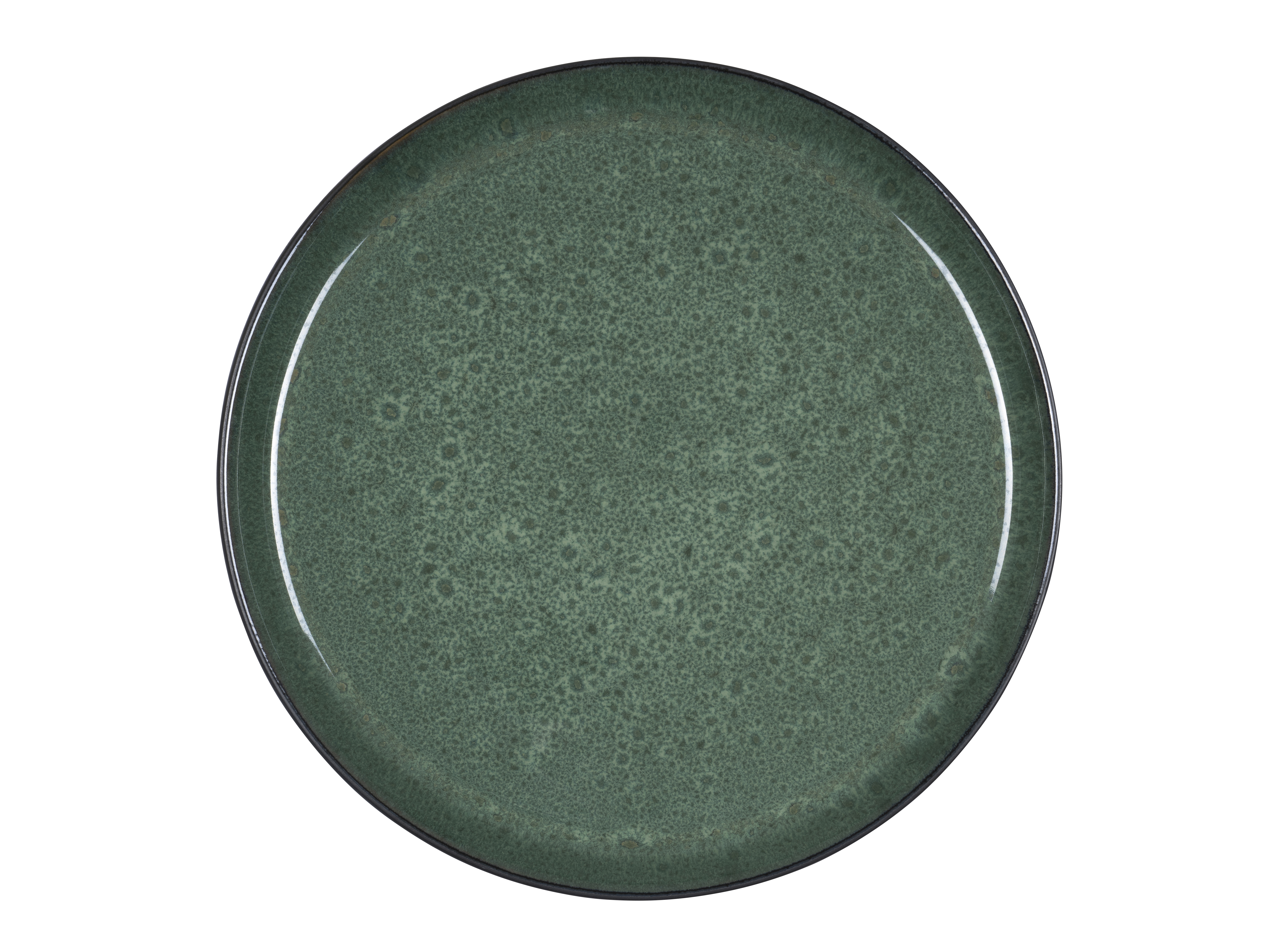 Bitz Gastro middagstallerken, Ø27 cm, sort/grøn