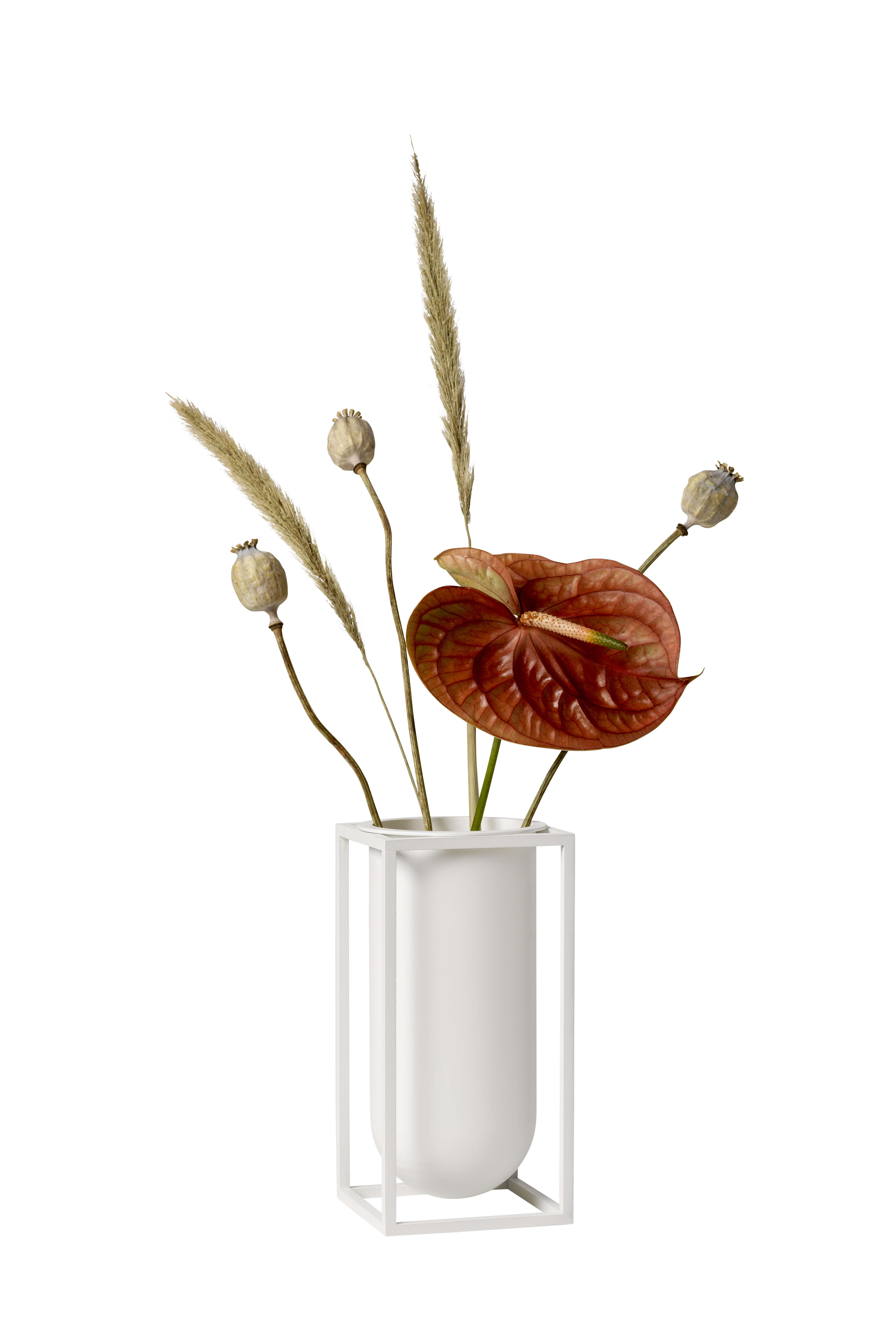 ByLassen Kubus Lily vase, hvid