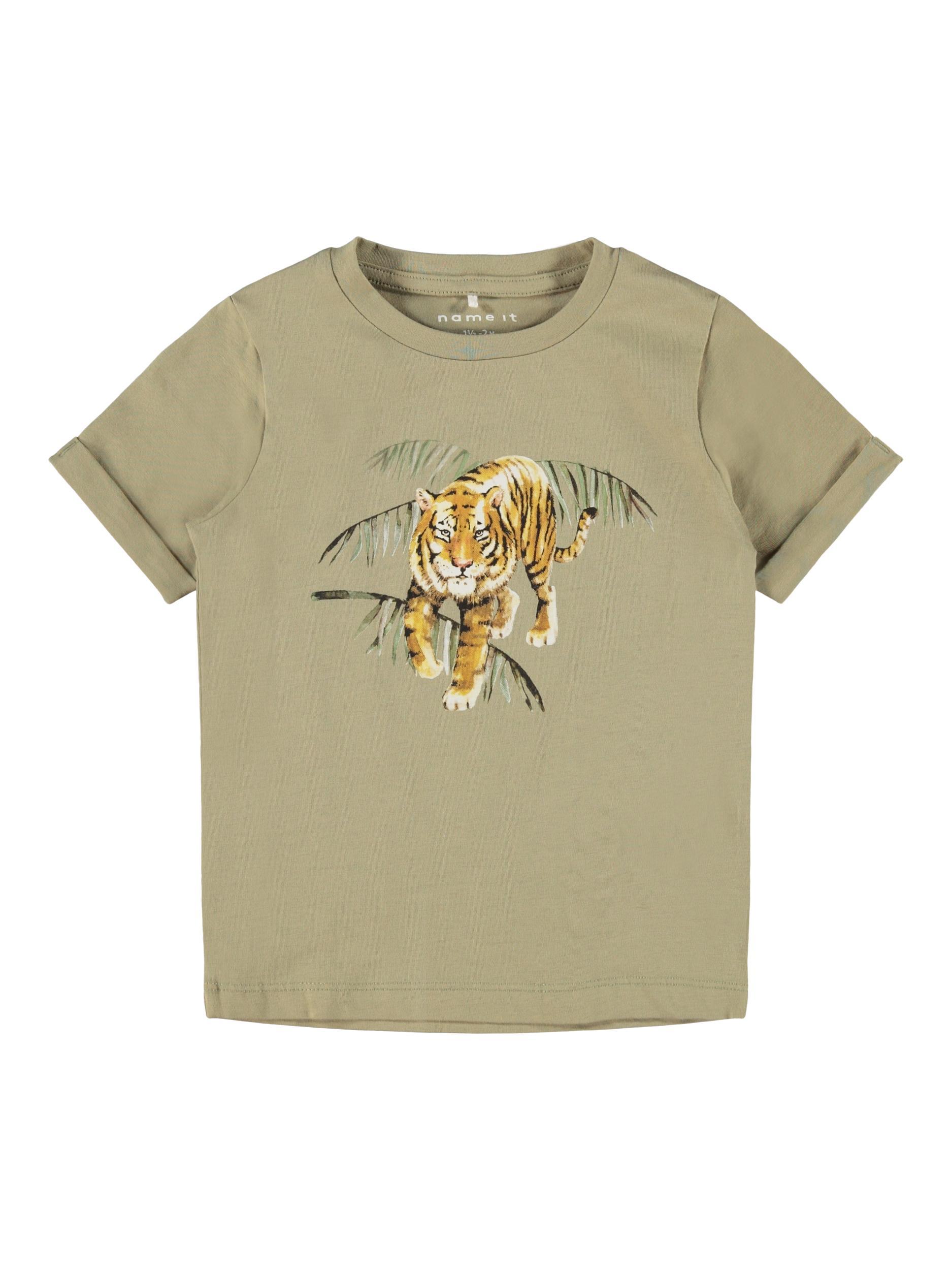 Name It Jacob t-shirt, silver sage, 86