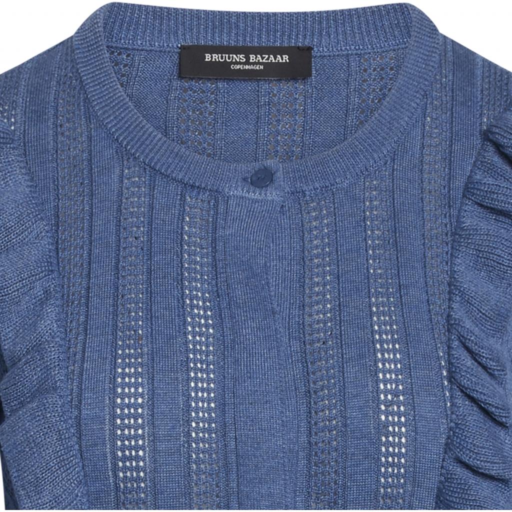 Bruuns Bazaar Daylily Maddin cardigan, riverside, small