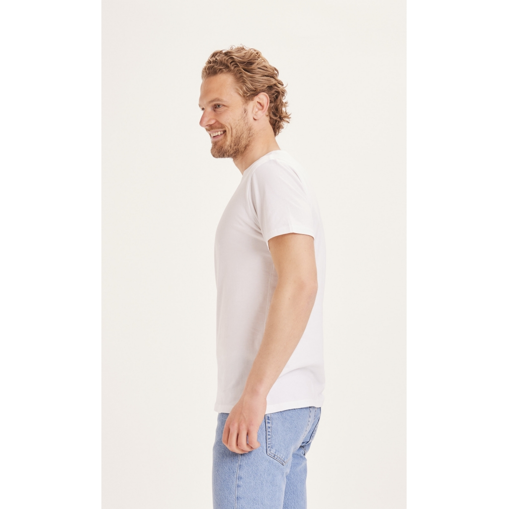 Knowledge Cotton Apparel Alder basic t-shirt, bright white, medium