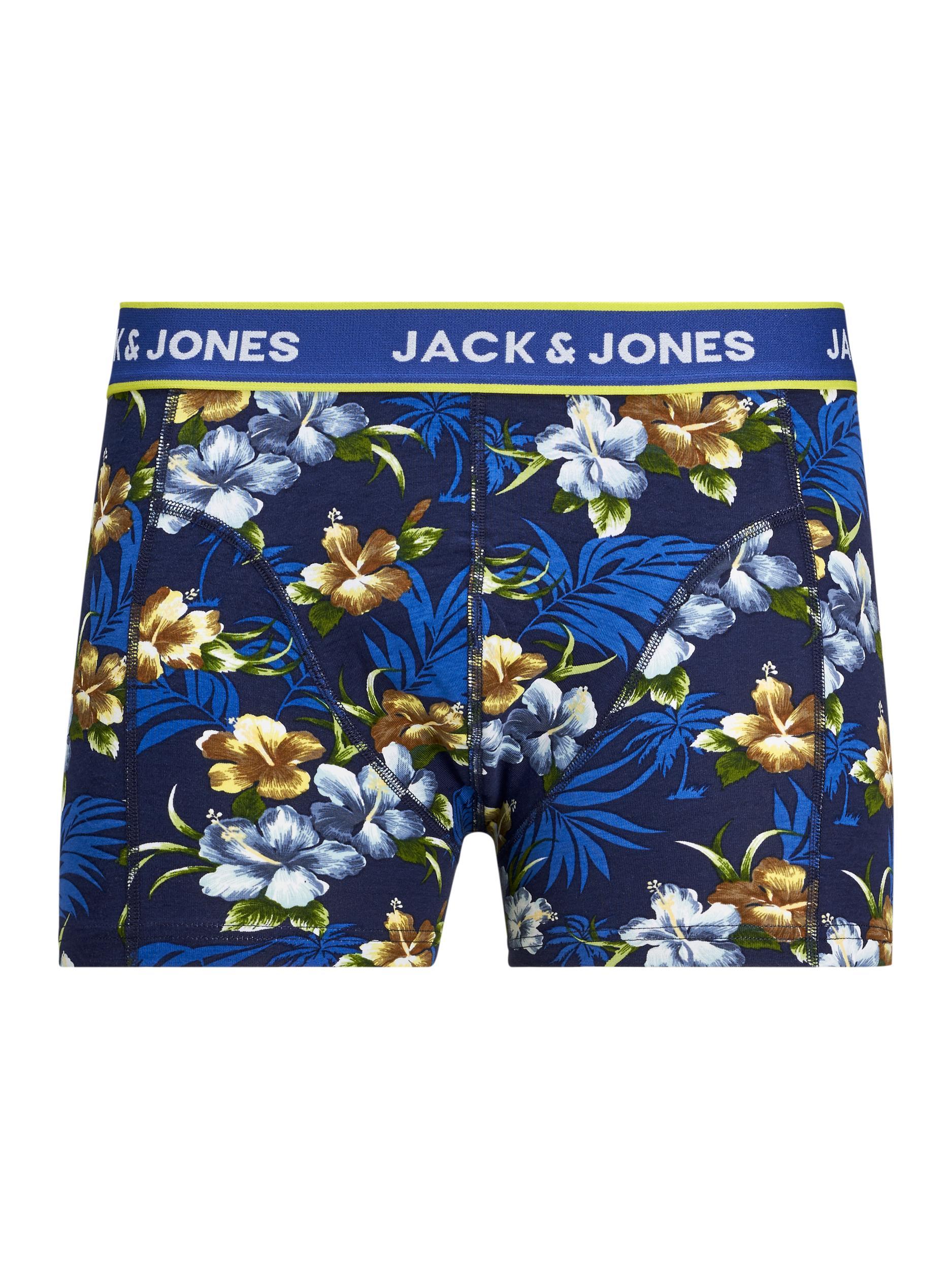 Jack&Jones Flower 3-pak Underbukser, Sort, Small