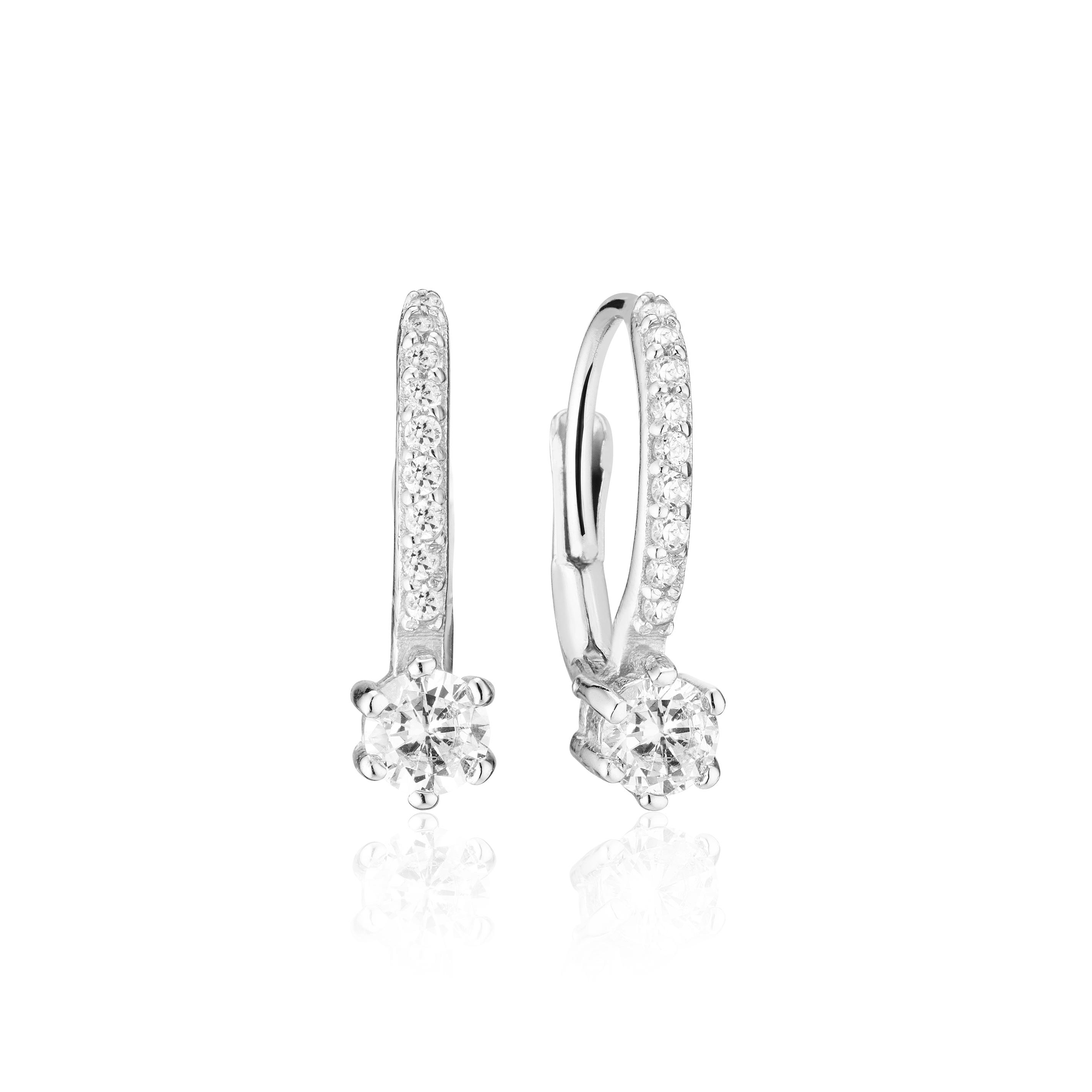 Sif Jakobs Jewellery Rimini Altro øreringe, sølv/hvid